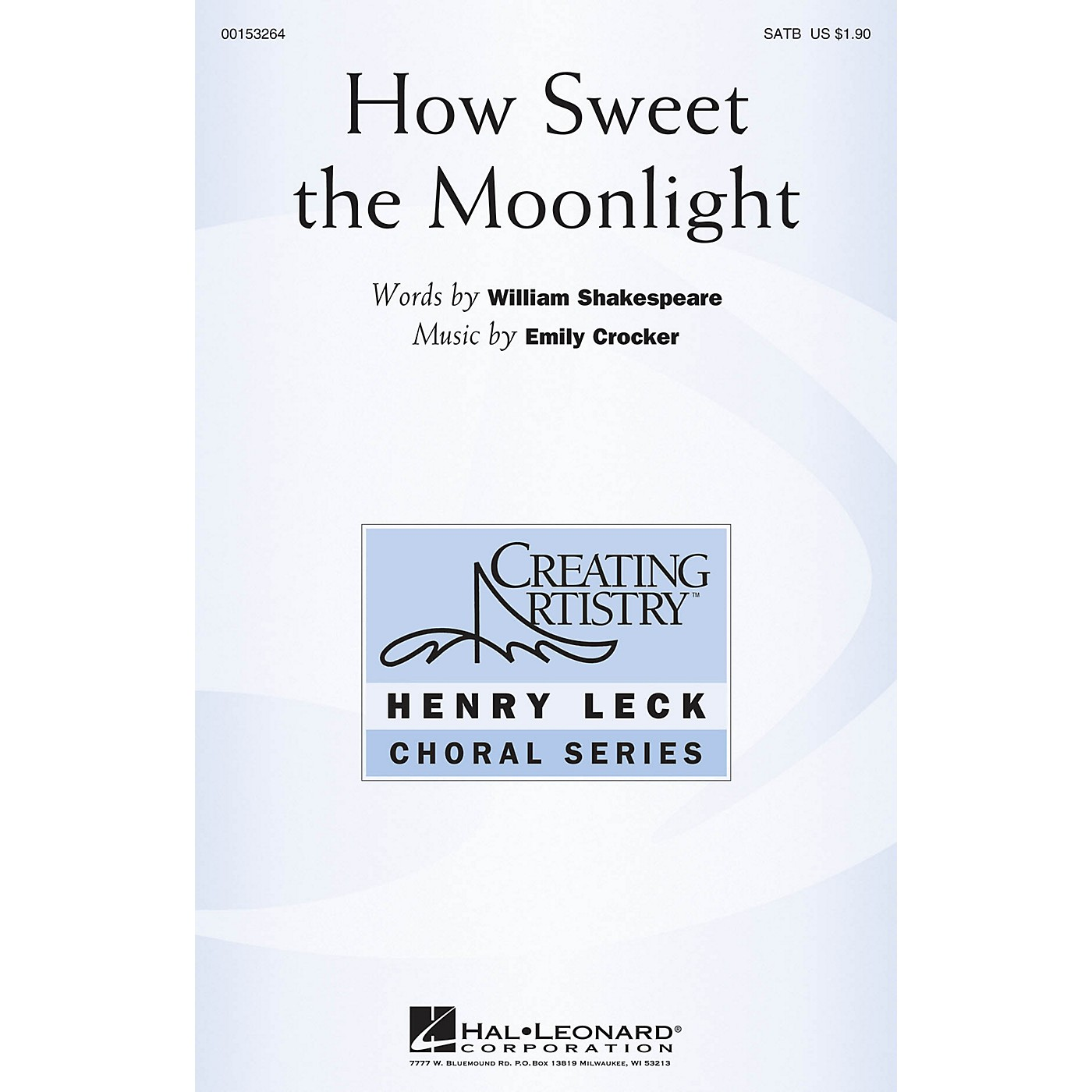Hal Leonard How Sweet the Moonlight SATB composed by Emily Crocker thumbnail