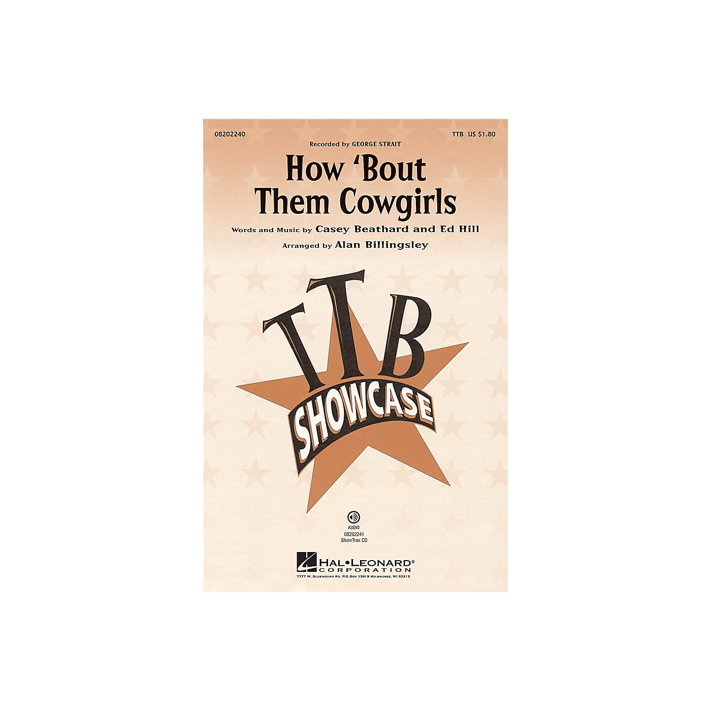 Hal Leonard How 'bout Them Cowgirls ShowTrax CD Arranged by Alan Billingsley thumbnail