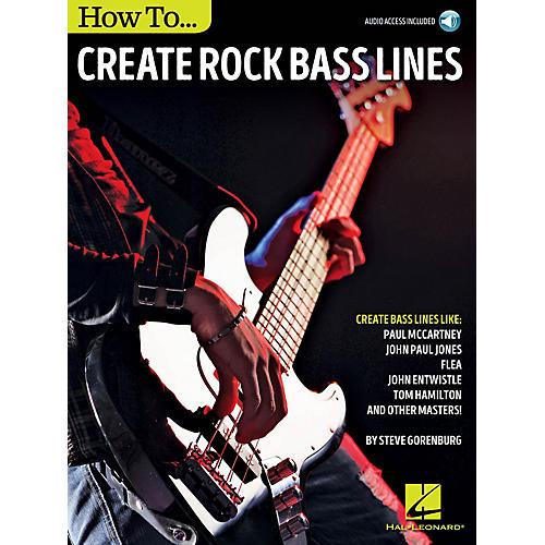 Hal Leonard How to Create Rock Bass Lines Bass Instruction Series Softcover Audio Online Written by Steve Gorenberg thumbnail