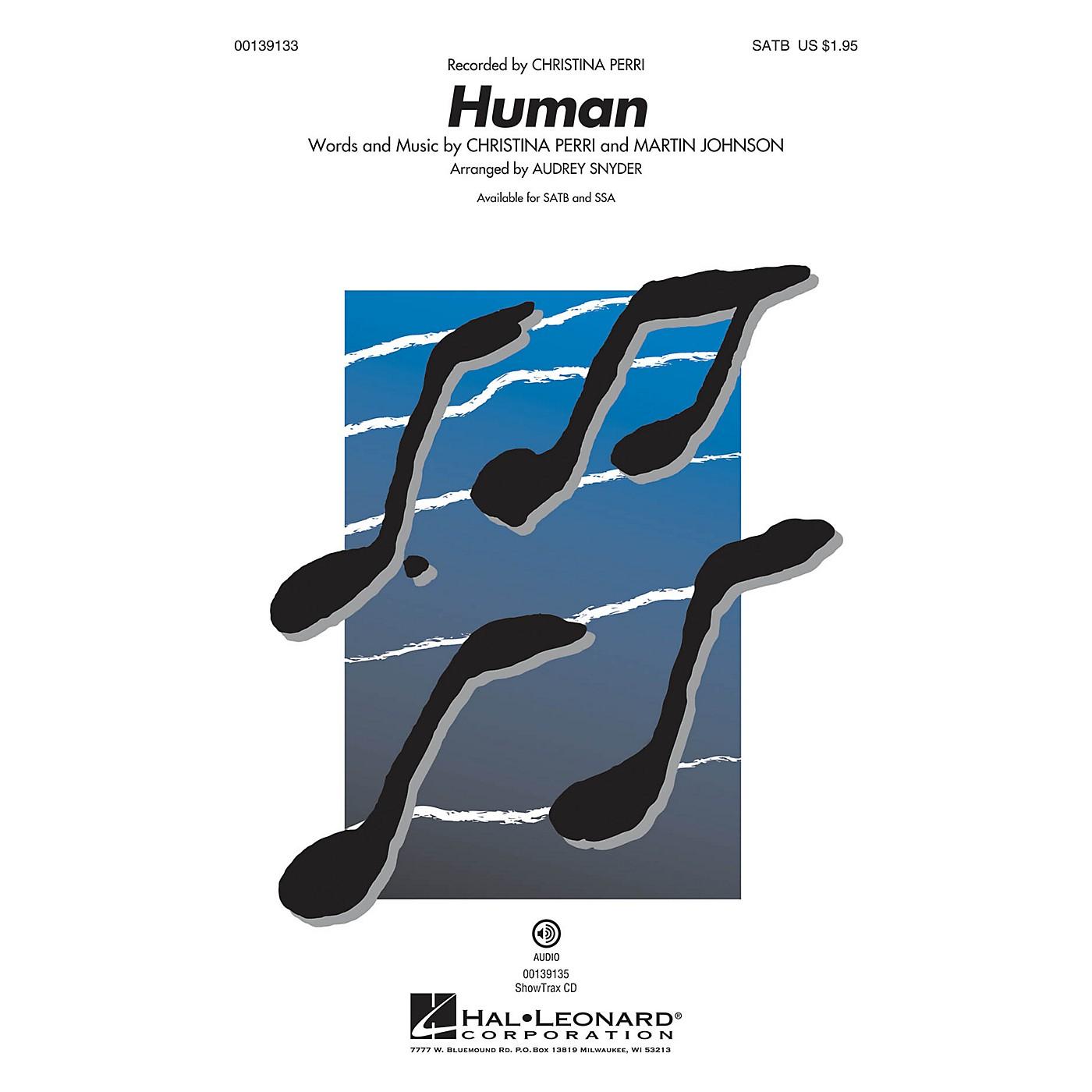 Hal Leonard Human SATB by Christina Perri arranged by Audrey Snyder thumbnail