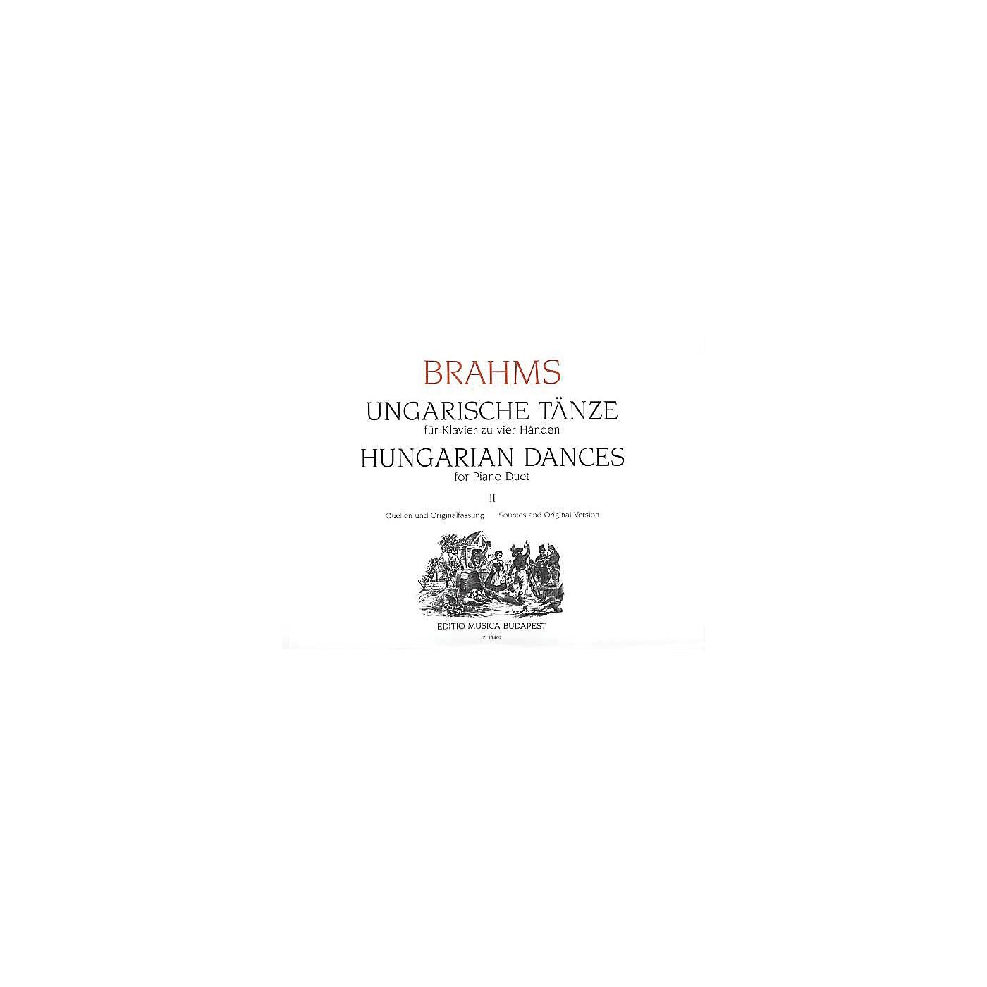 Editio Musica Budapest Hungarian Dances Piano 4 Hands Volume 2 EMB Series thumbnail