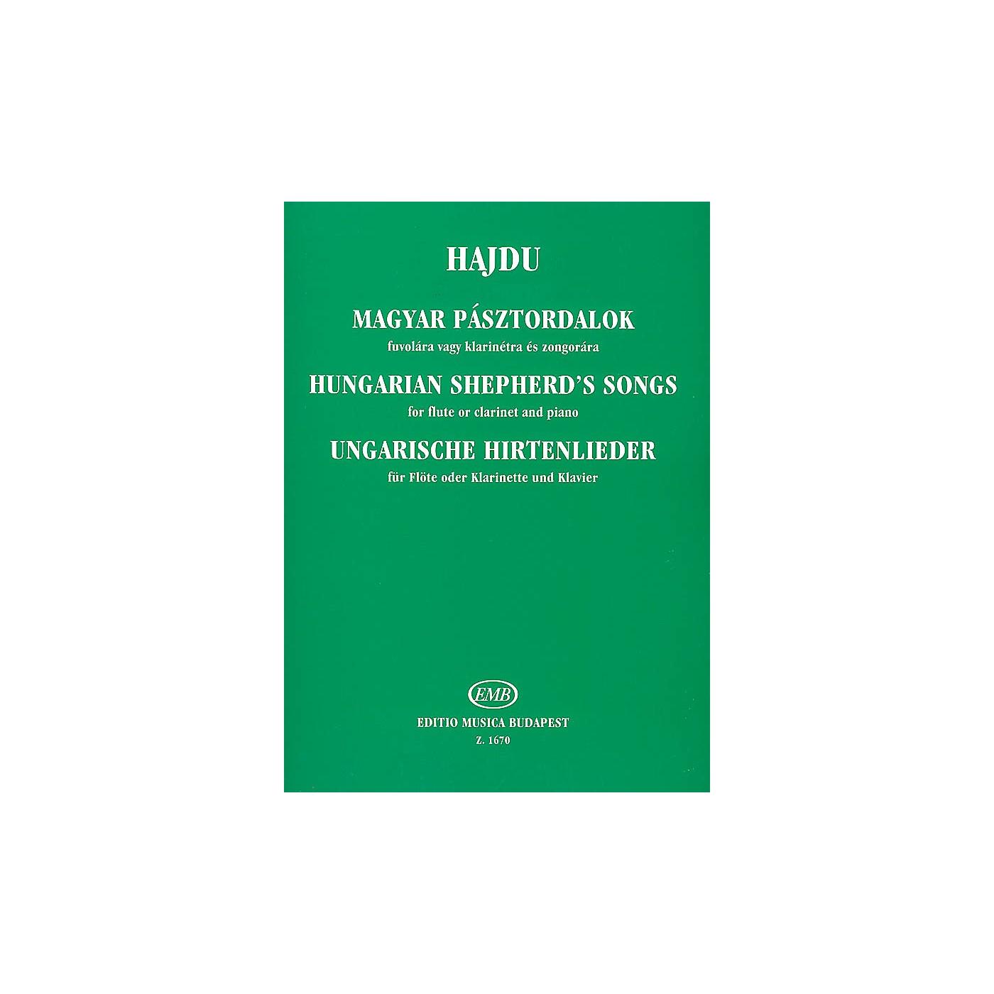 Editio Musica Budapest Hungarian Shepherd's Songs EMB Series by Mihály Hajdu thumbnail
