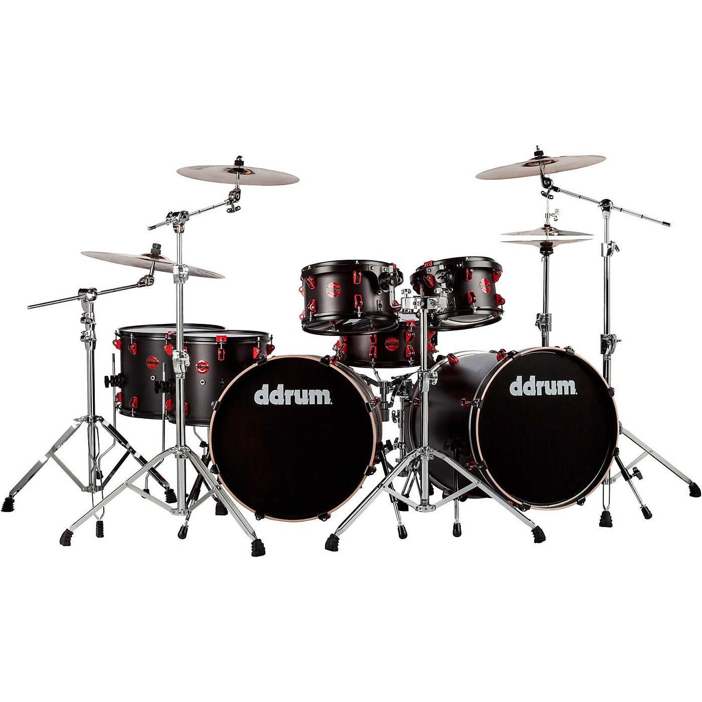 ddrum Hybrid Acoustic/Electric 7-piece Double Bass Shell Pack thumbnail