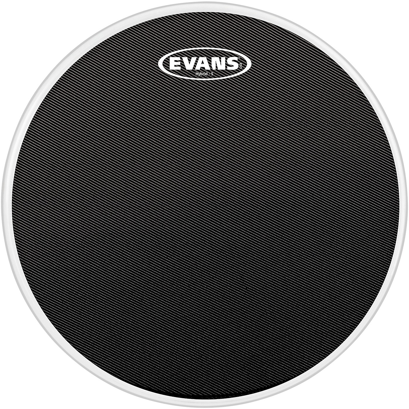 Evans Hybrid-Soft Marching Snare Drum Batter Head Black thumbnail