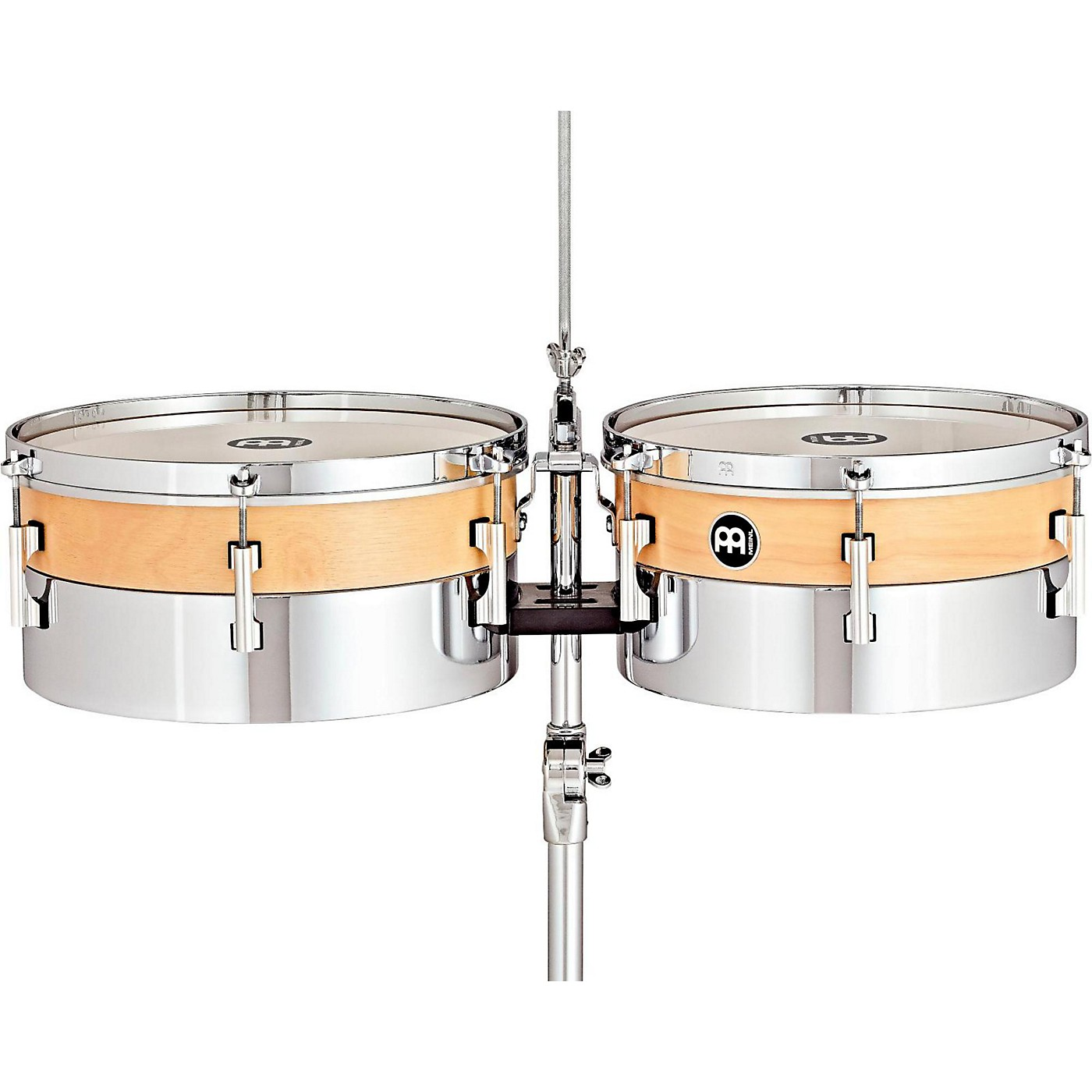 Meinl Hybrid Timbales with Height Adjustable Tripod Stand and Cowbell Holder thumbnail