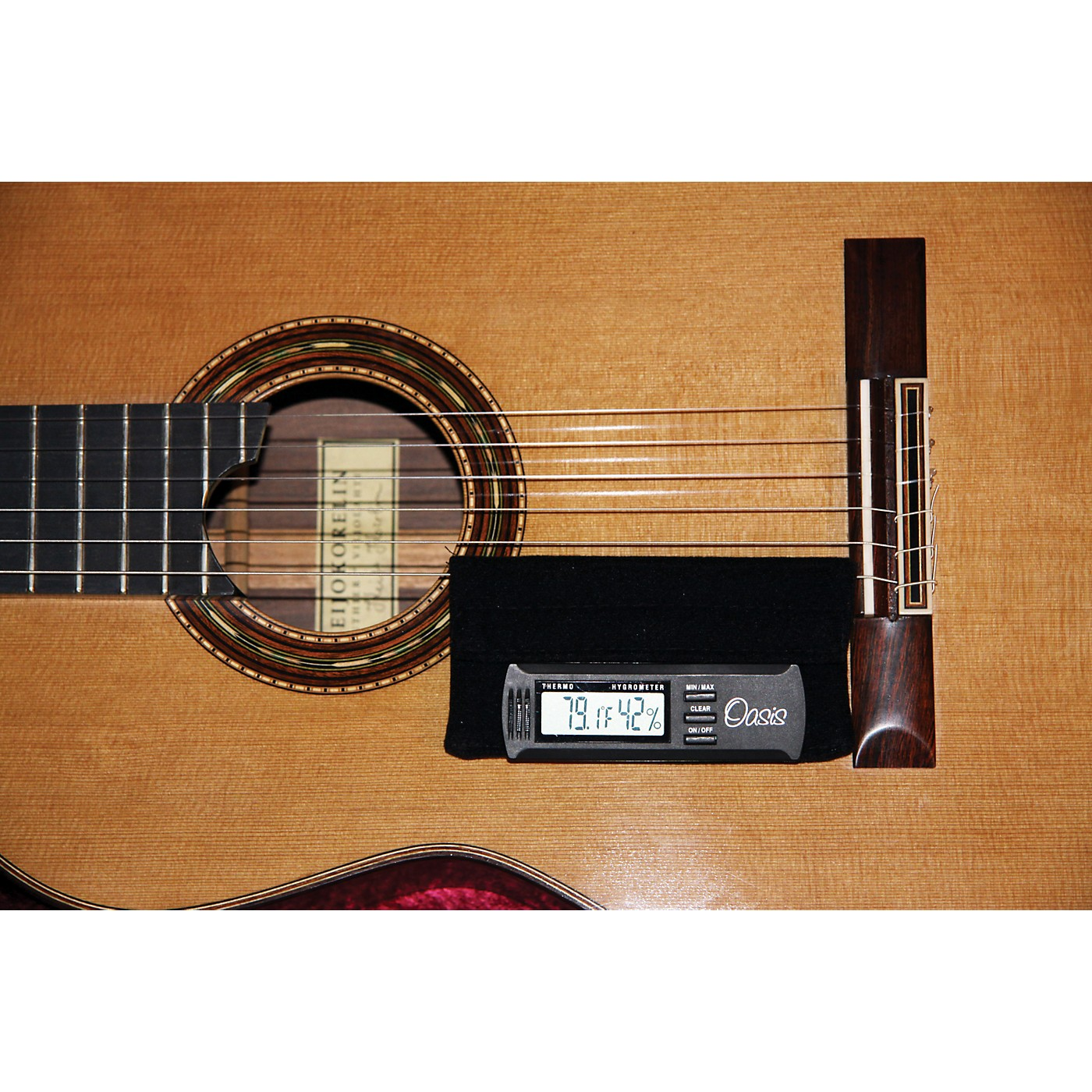 Oasis Hygrometer Holder for Guitar thumbnail