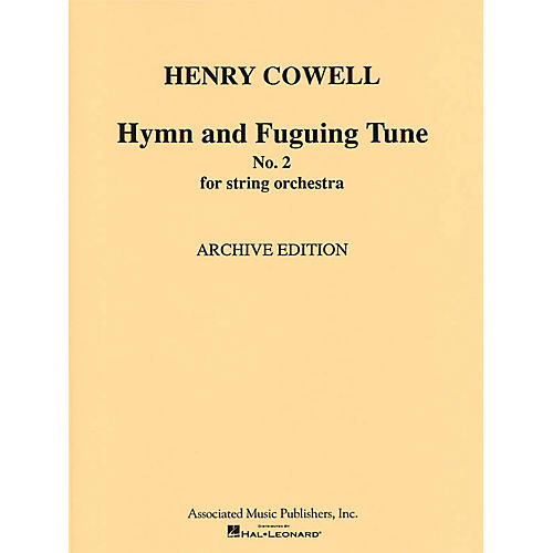 G. Schirmer Hymn & Fuguing Tune No 2 Str Orch  Score Misc Series thumbnail