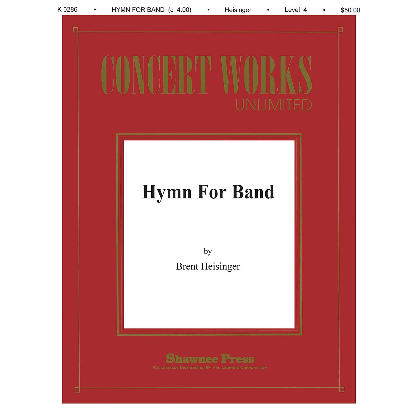 Shawnee Press Hymn for Band Concert Band Level 3 Composed by Heisinger thumbnail