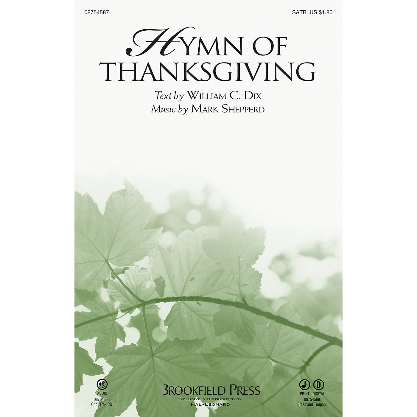 Brookfield Hymn of Thanksgiving BRASS & TIMPANI Composed by Mark Shepperd thumbnail