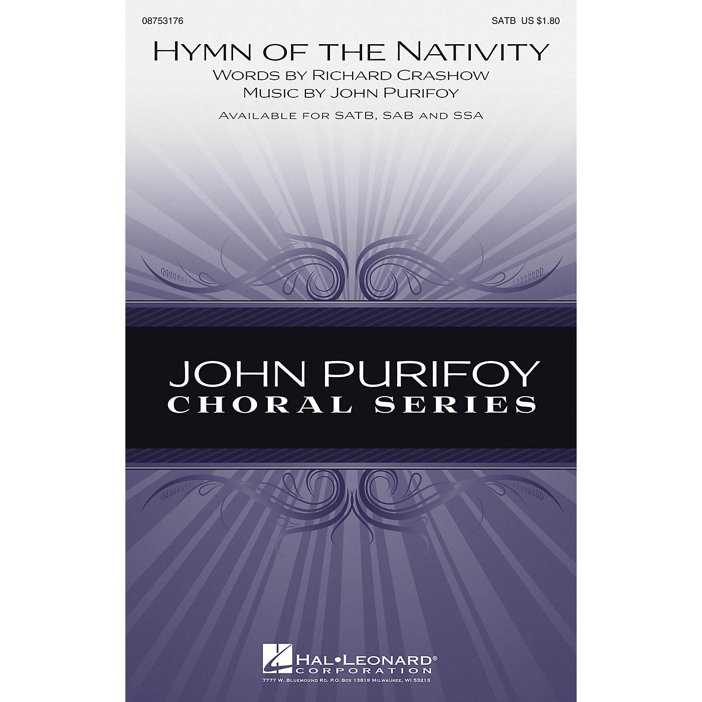 Hal Leonard Hymn of the Nativity SAB Composed by John Purifoy thumbnail