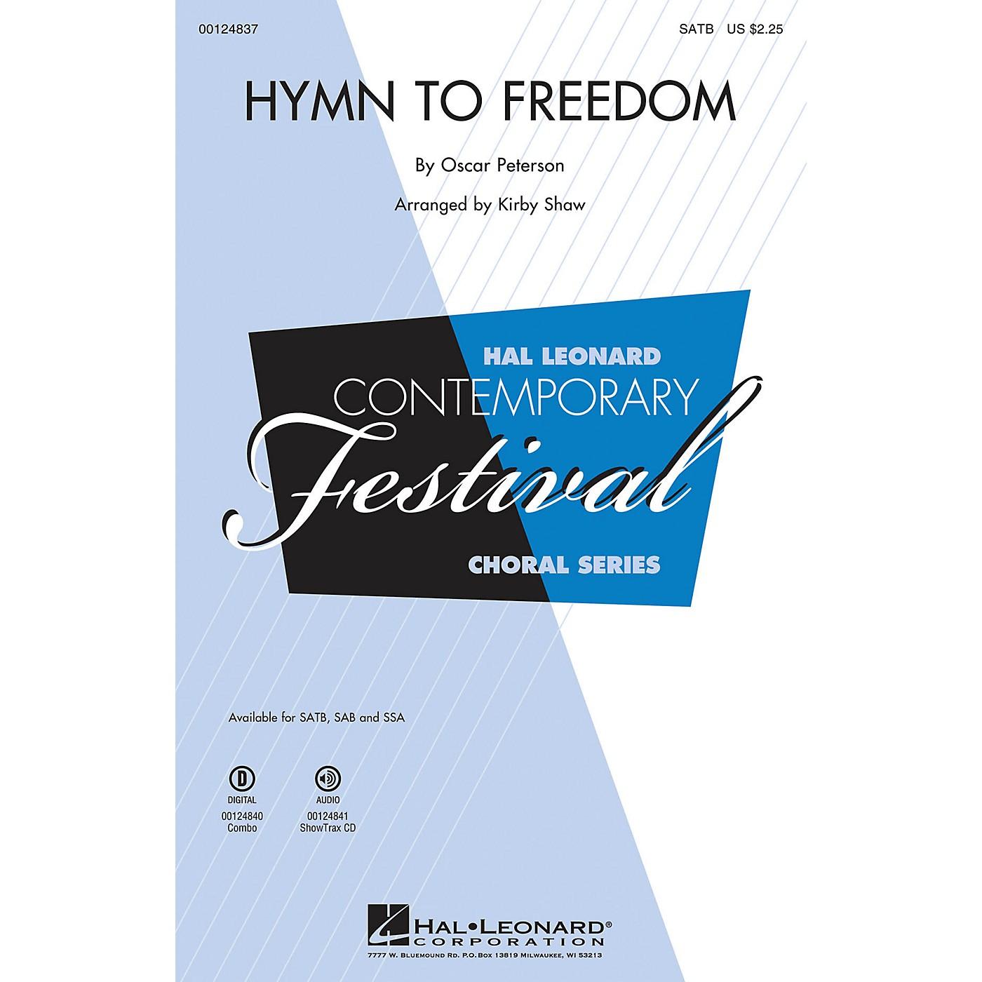 Hal Leonard Hymn to Freedom SAB Arranged by Kirby Shaw thumbnail