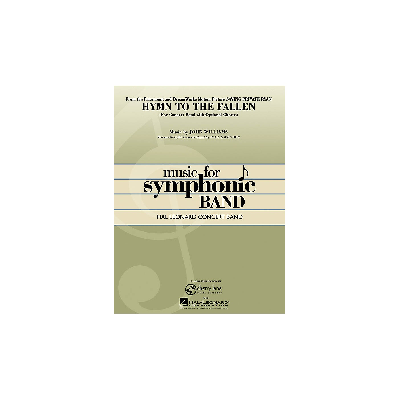 Hal Leonard Hymn to the Fallen (from Saving Private Ryan) Concert Band Level 4-5 Arranged by Paul Lavender thumbnail