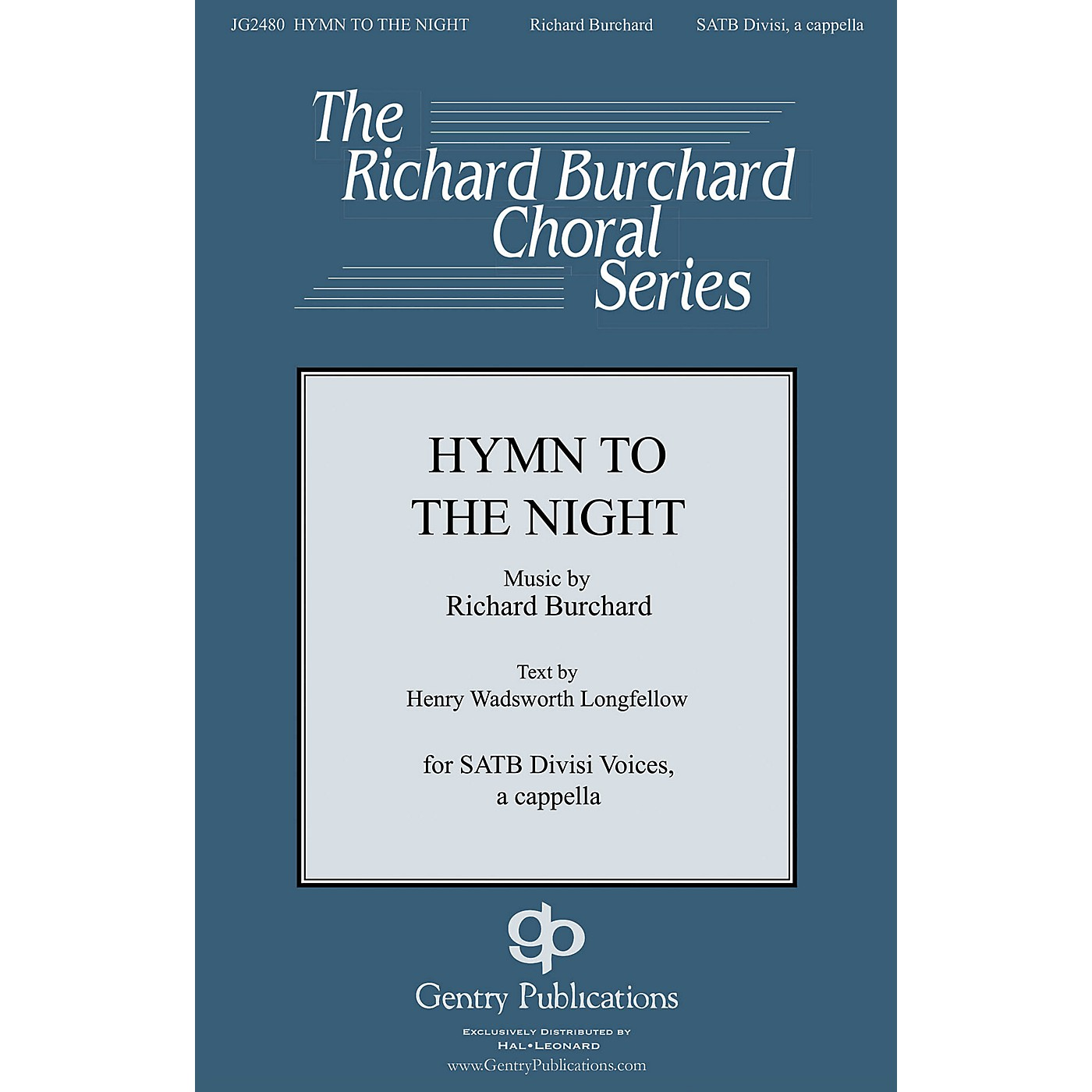 Gentry Publications Hymn to the Night SATB DV A Cappella composed by Richard Burchard thumbnail