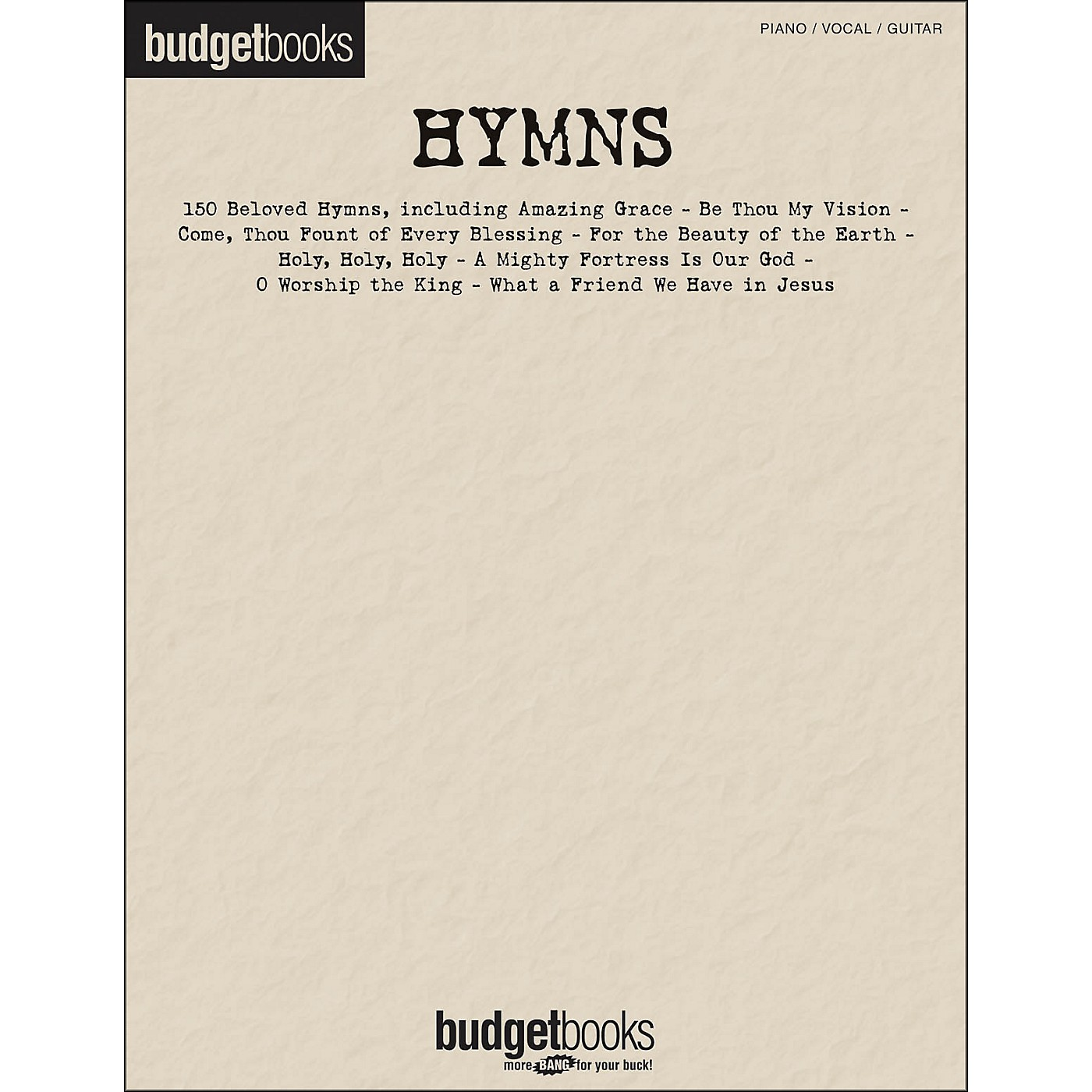 Hal Leonard Hymns - Budget Books arranged for piano, vocal, and guitar (P/V/G) thumbnail