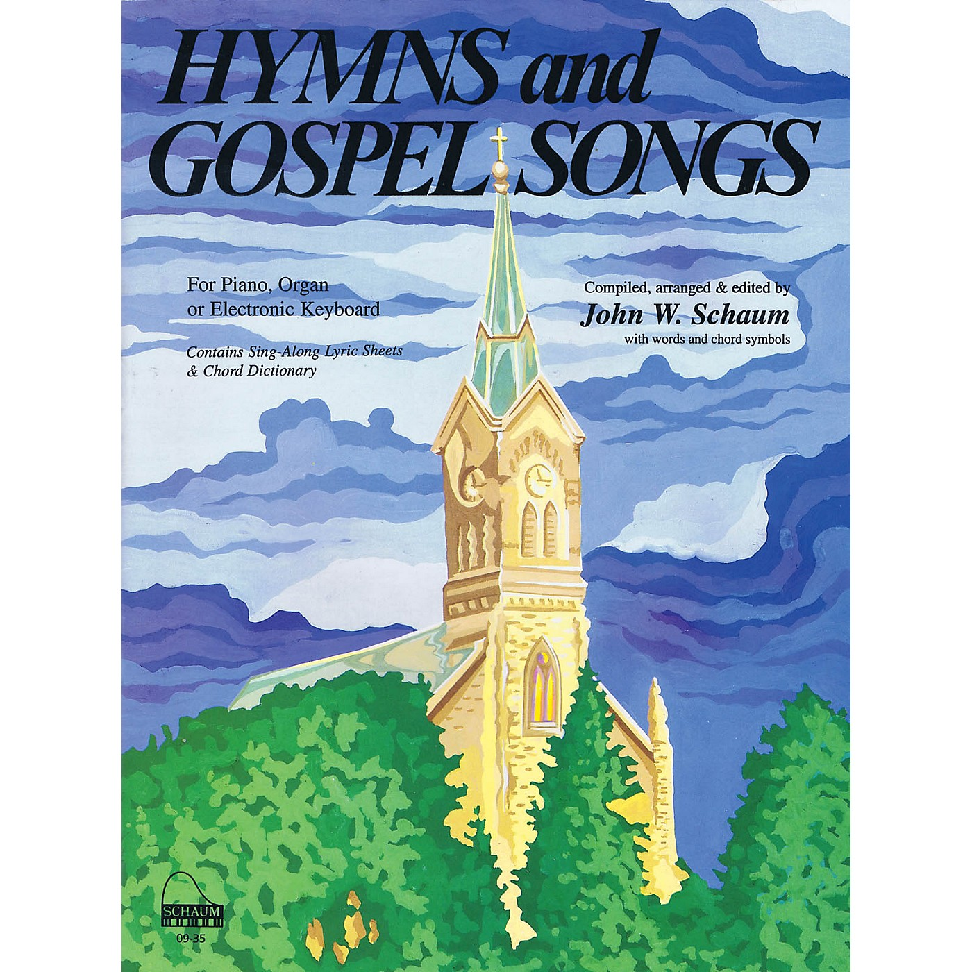 SCHAUM Hymns and Gospel Songs Educational Piano Book (Level Inter) thumbnail