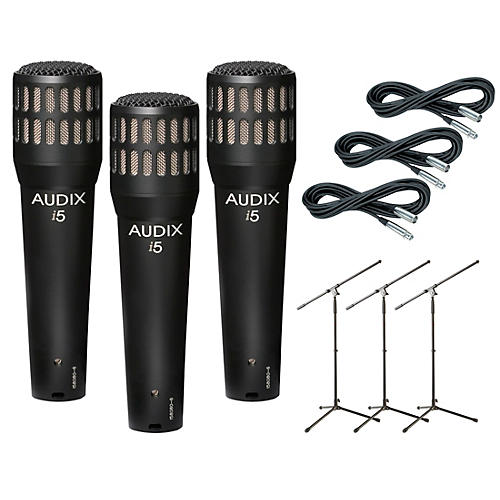 Audix I-5 Mic with Cable and Stand 3 Pack thumbnail