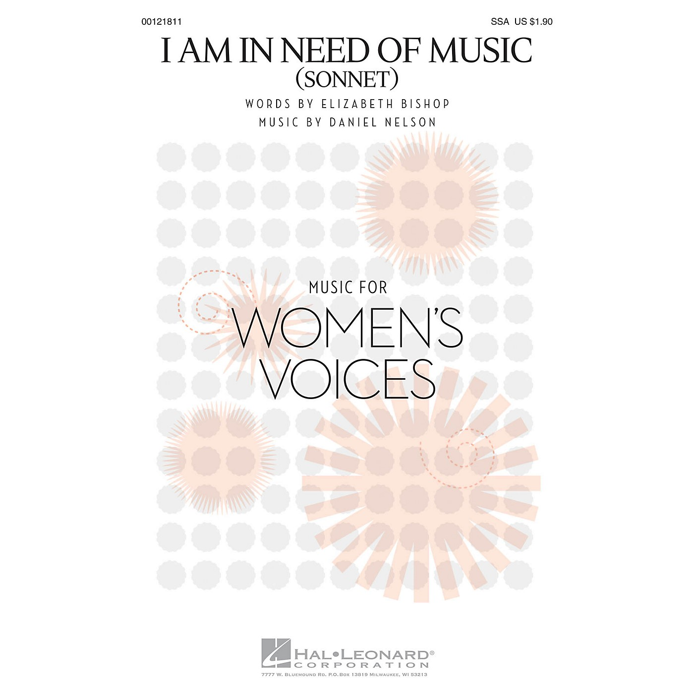 Hal Leonard I Am in Need of Music (Sonnet) SSA composed by Daniel Nelson thumbnail