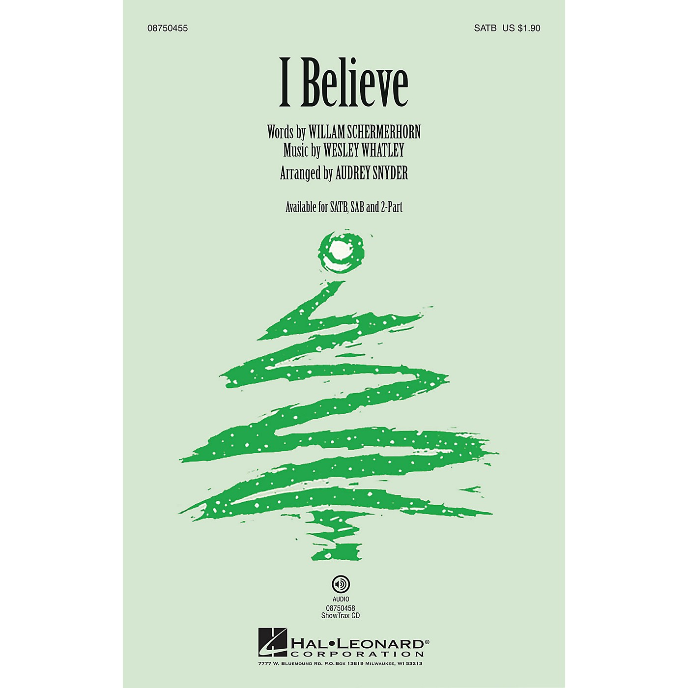 Hal Leonard I Believe SATB arranged by Audrey Snyder thumbnail