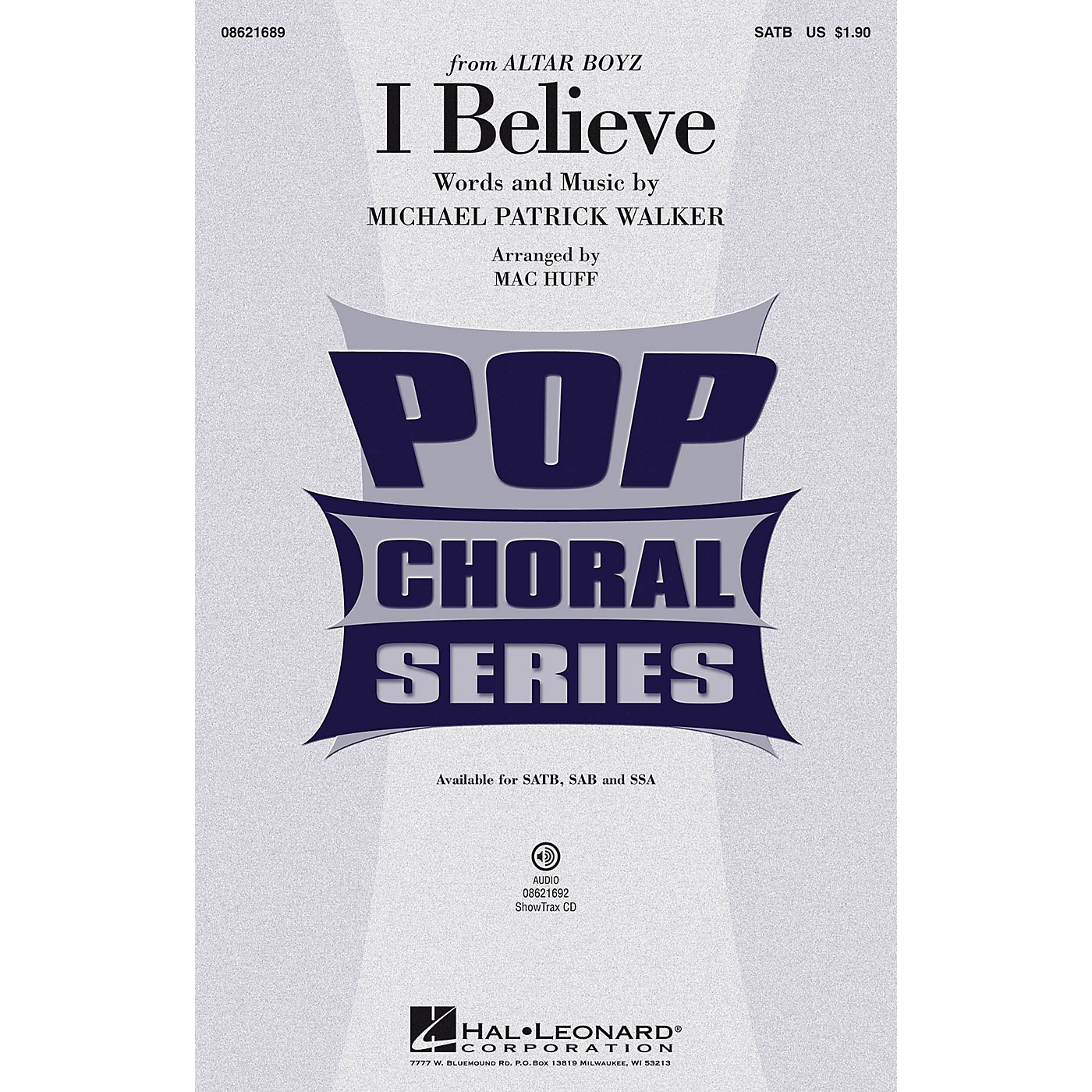 Hal Leonard I Believe (from Altar Boyz) ShowTrax CD Arranged by Mac Huff thumbnail