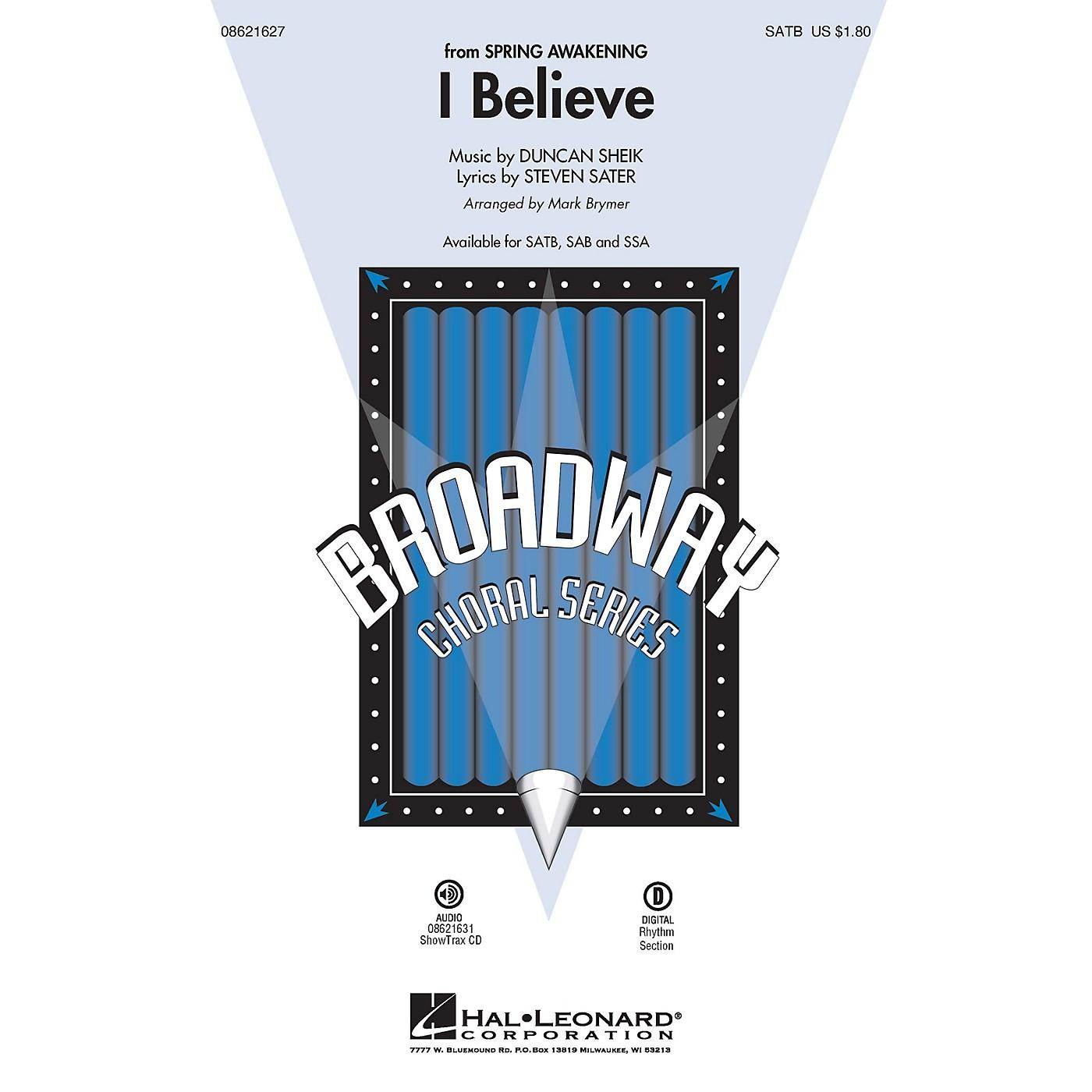 Hal Leonard I Believe (from Spring Awakening) ShowTrax CD Arranged by Mark Brymer thumbnail