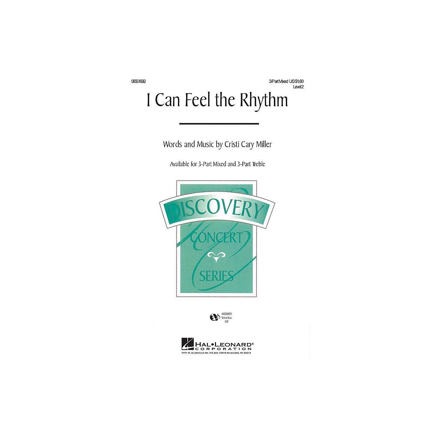 Hal Leonard I Can Feel the Rhythm 3-Part Mixed composed by Cristi Cary Miller thumbnail