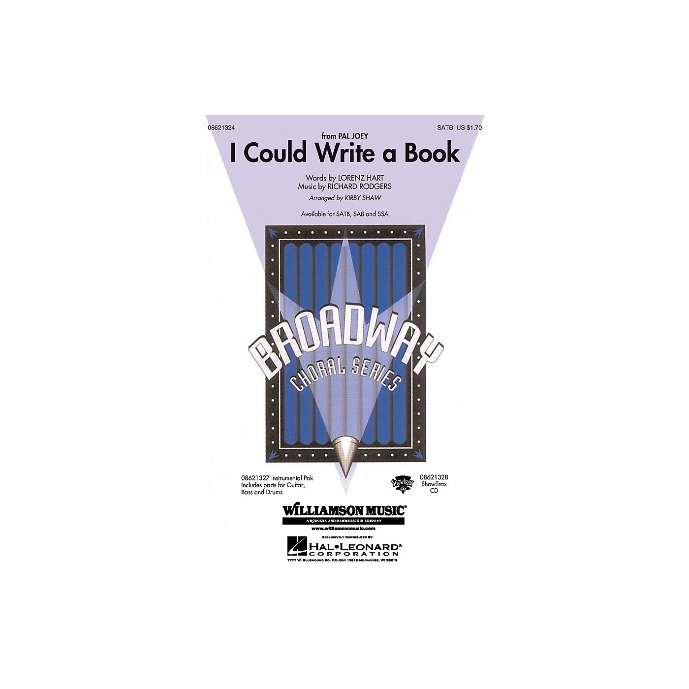 Hal Leonard I Could Write a Book SATB arranged by Kirby Shaw thumbnail