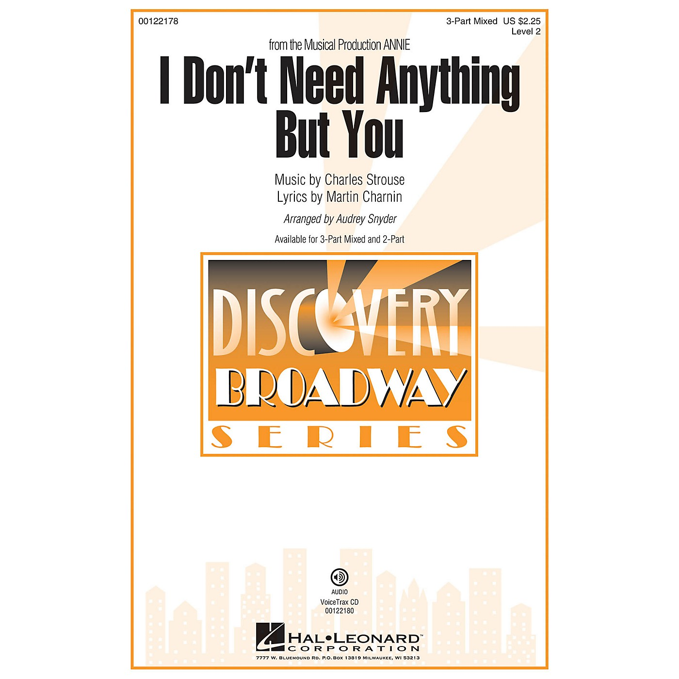 Hal Leonard I Don't Need Anything But You (from Annie) Discovery Level 2 VoiceTrax CD Arranged by Audrey Snyder thumbnail