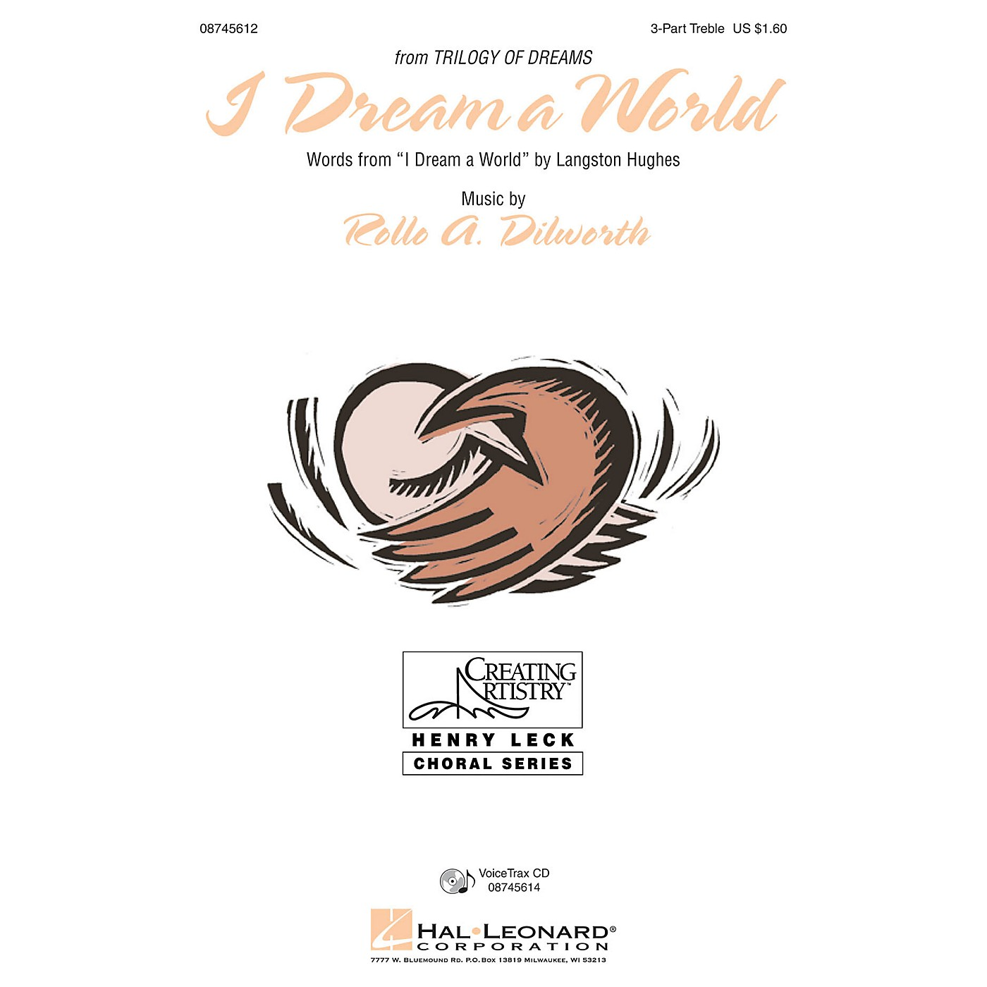 Hal Leonard I Dream a World (from Trilogy of Dreams) 3 Part Treble composed by Rollo Dilworth thumbnail