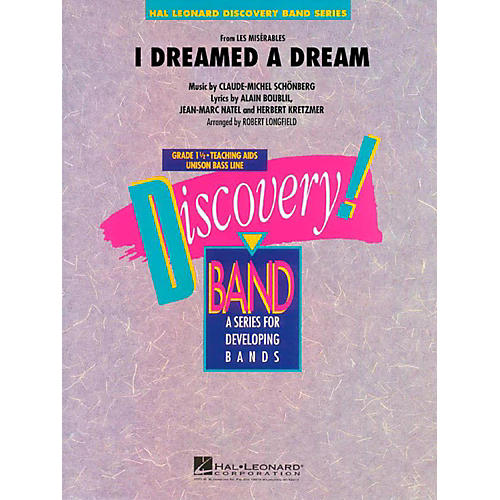 Hal Leonard I Dreamed A Dream (From Les Miserables) Discovery Concert Band Level 1.5 thumbnail