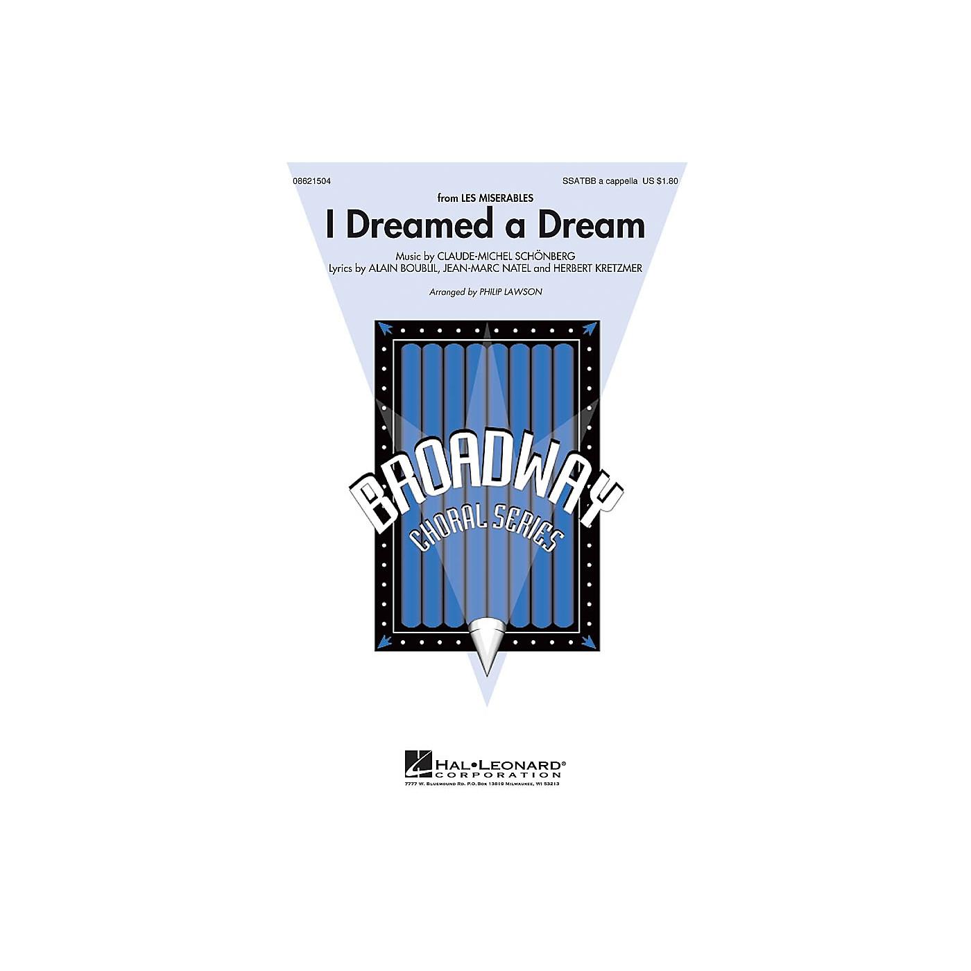 Hal Leonard I Dreamed a Dream (from Les Misérables) SATB DV A Cappella arranged by Philip Lawson thumbnail