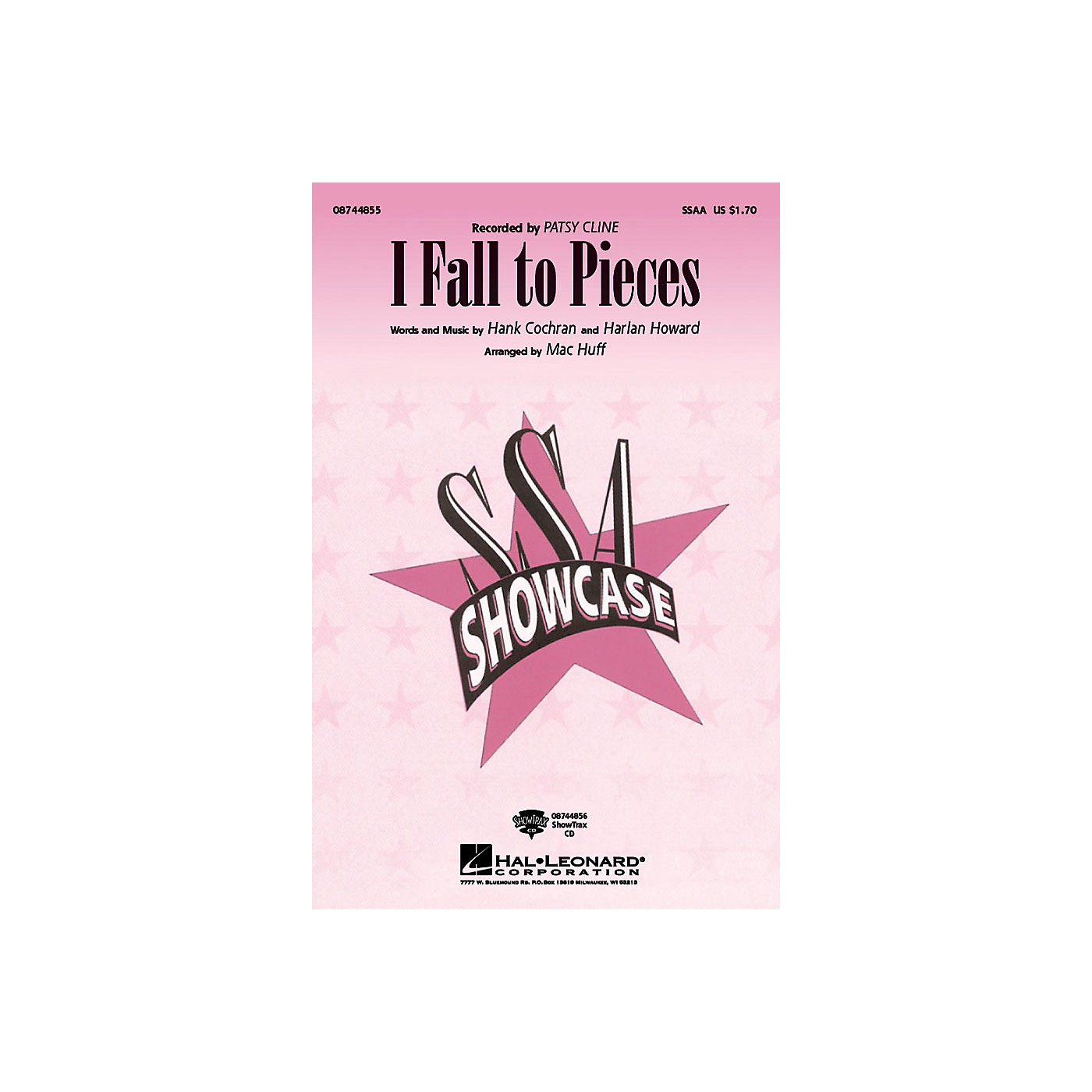 Hal Leonard I Fall to Pieces SSAA by Patsy Cline arranged by Mac Huff thumbnail