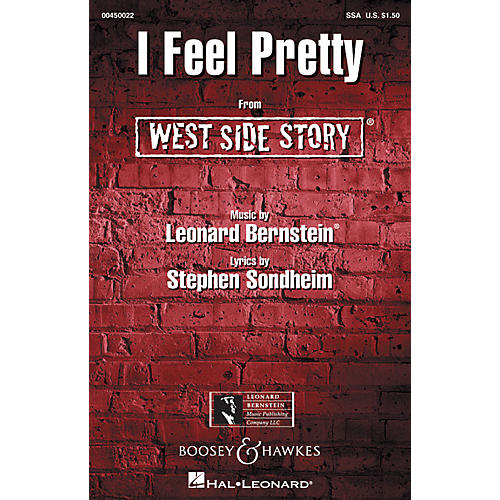 Leonard Bernstein Music I Feel Pretty (from West Side Story) (SSA) SSA Arranged by William Stickles thumbnail