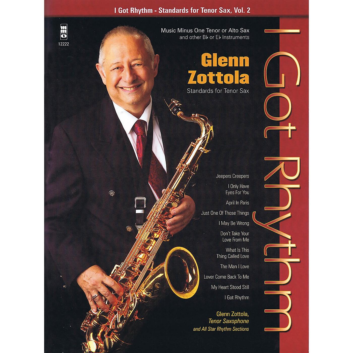 Music Minus One I Got Rhythm - Standards for Tenor Sax, Vol. 2 Music Minus One Series Book with CD by Glenn Zottola thumbnail