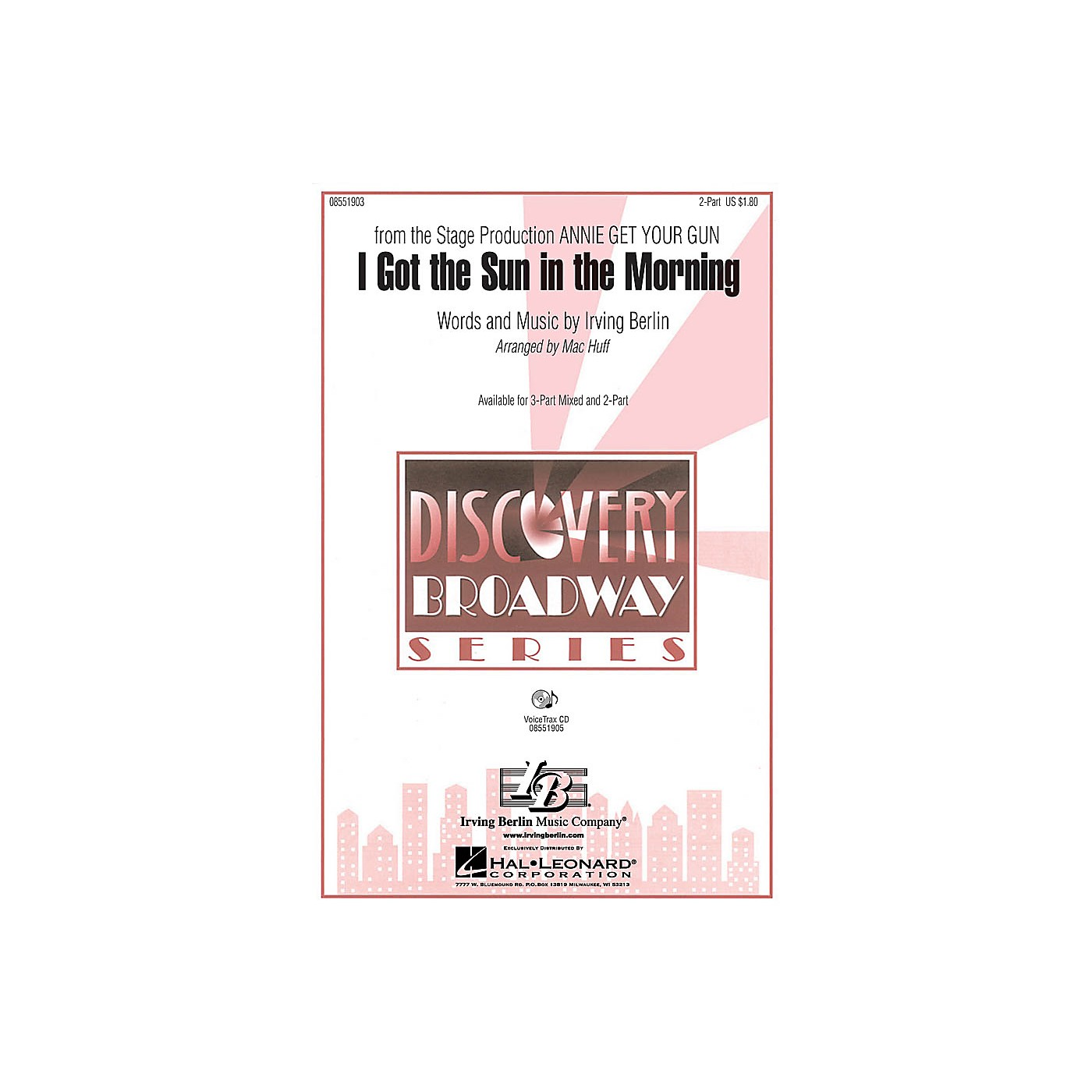 Hal Leonard I Got the Sun in the Morning 2-Part arranged by Mac Huff thumbnail