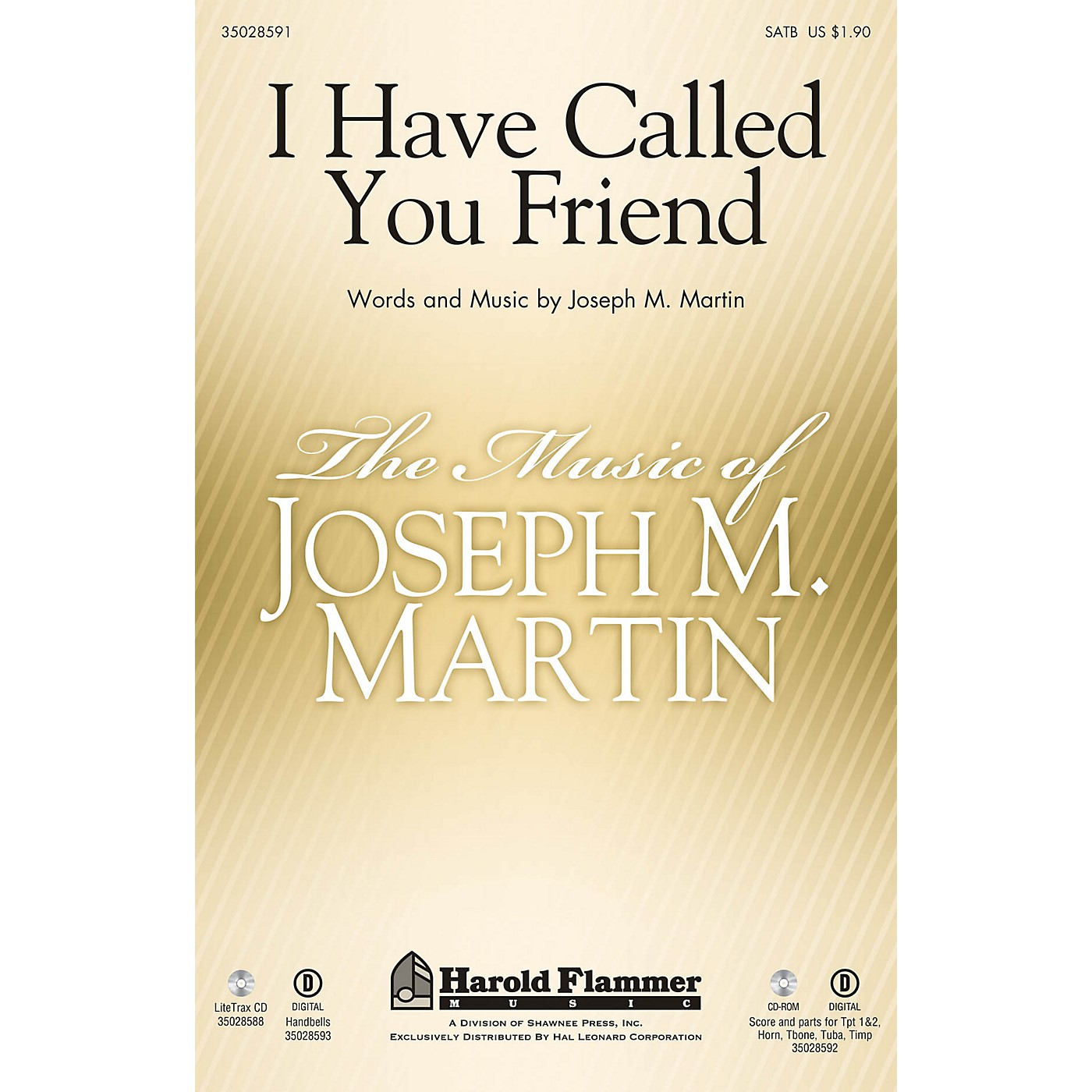 Shawnee Press I Have Called You Friend SATB composed by Joseph M. Martin thumbnail