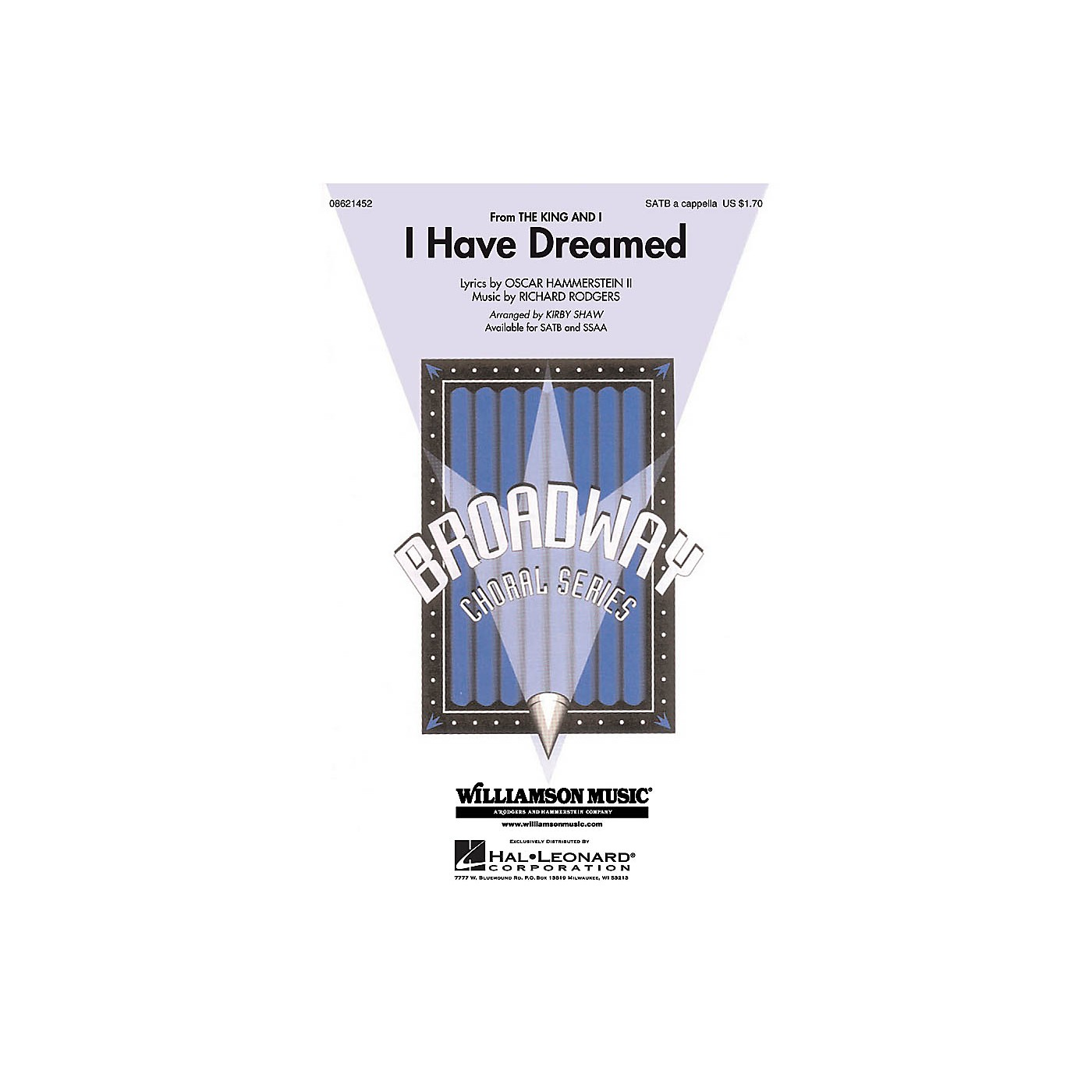 Hal Leonard I Have Dreamed (from The King and I) SATB a cappella arranged by Kirby Shaw thumbnail