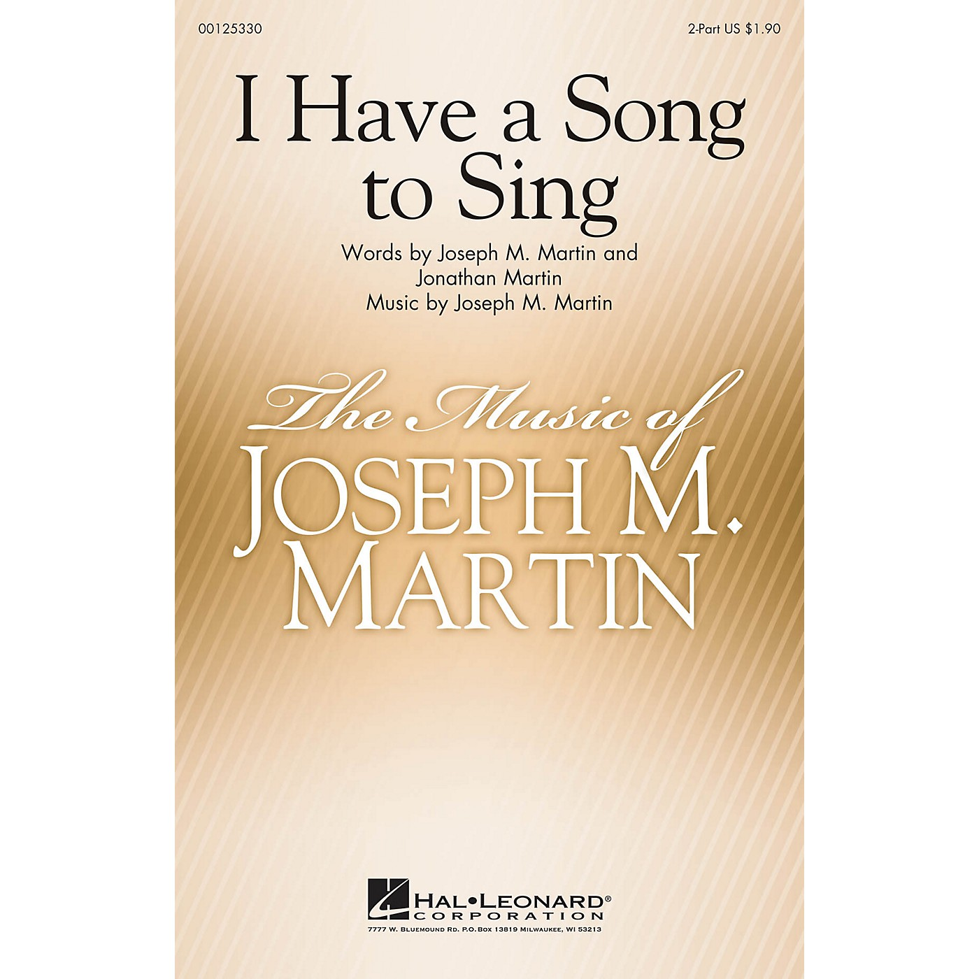 Hal Leonard I Have a Song to Sing 2-Part composed by Joseph Martin thumbnail