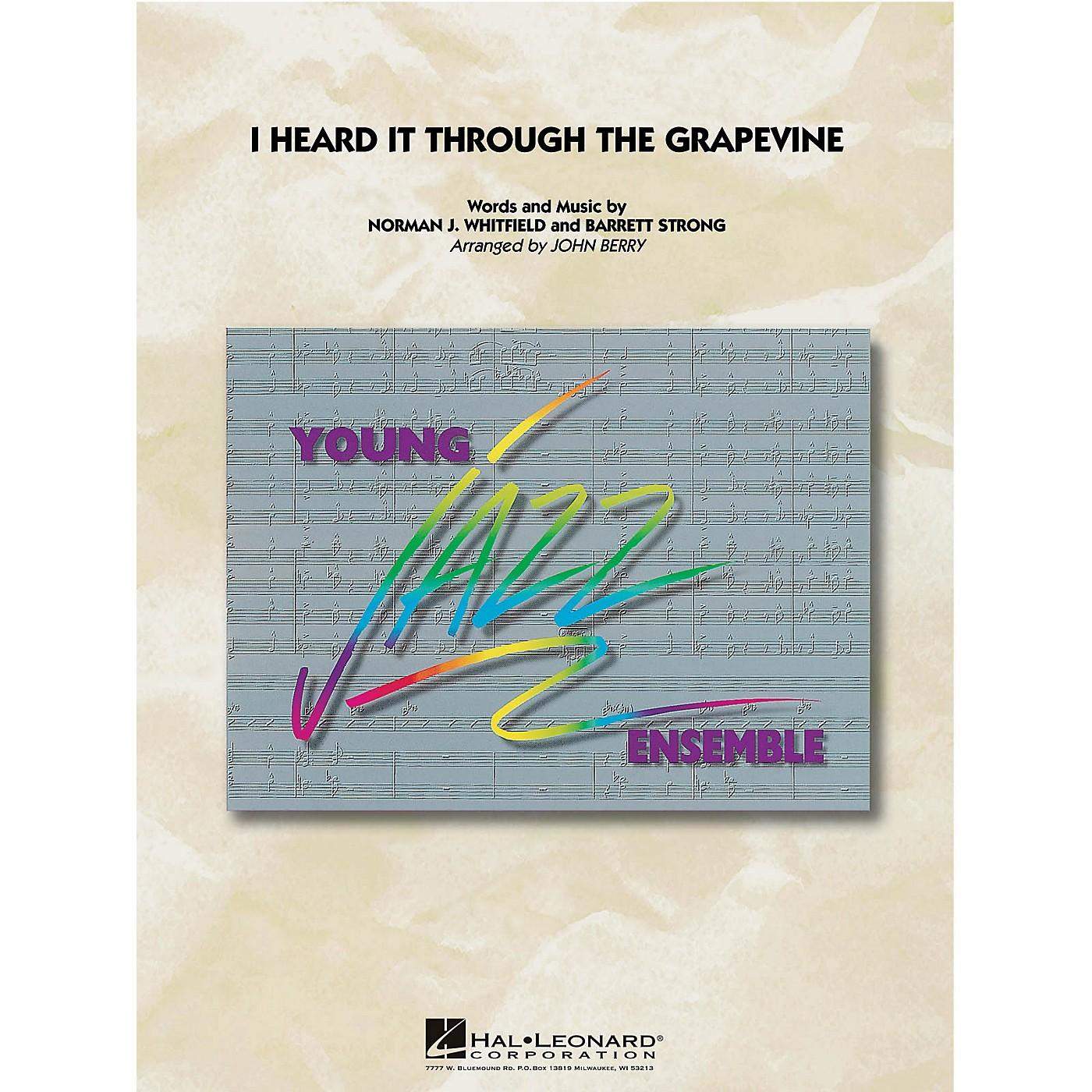 Hal Leonard I Heard It Through the Grapevine Jazz Band Level 3 by Marvin Gaye Arranged by John Berry thumbnail