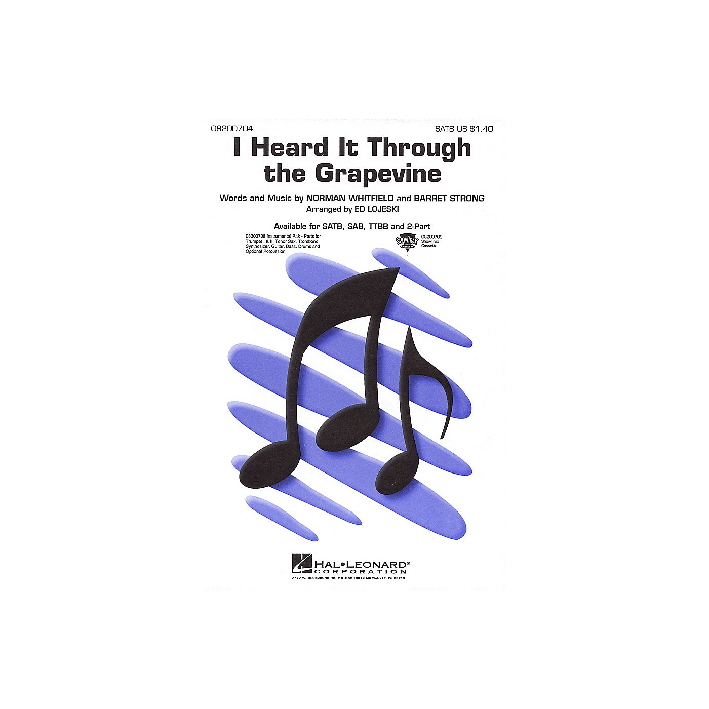 Hal Leonard I Heard It Through the Grapevine ShowTrax CD Arranged by Ed Lojeski thumbnail