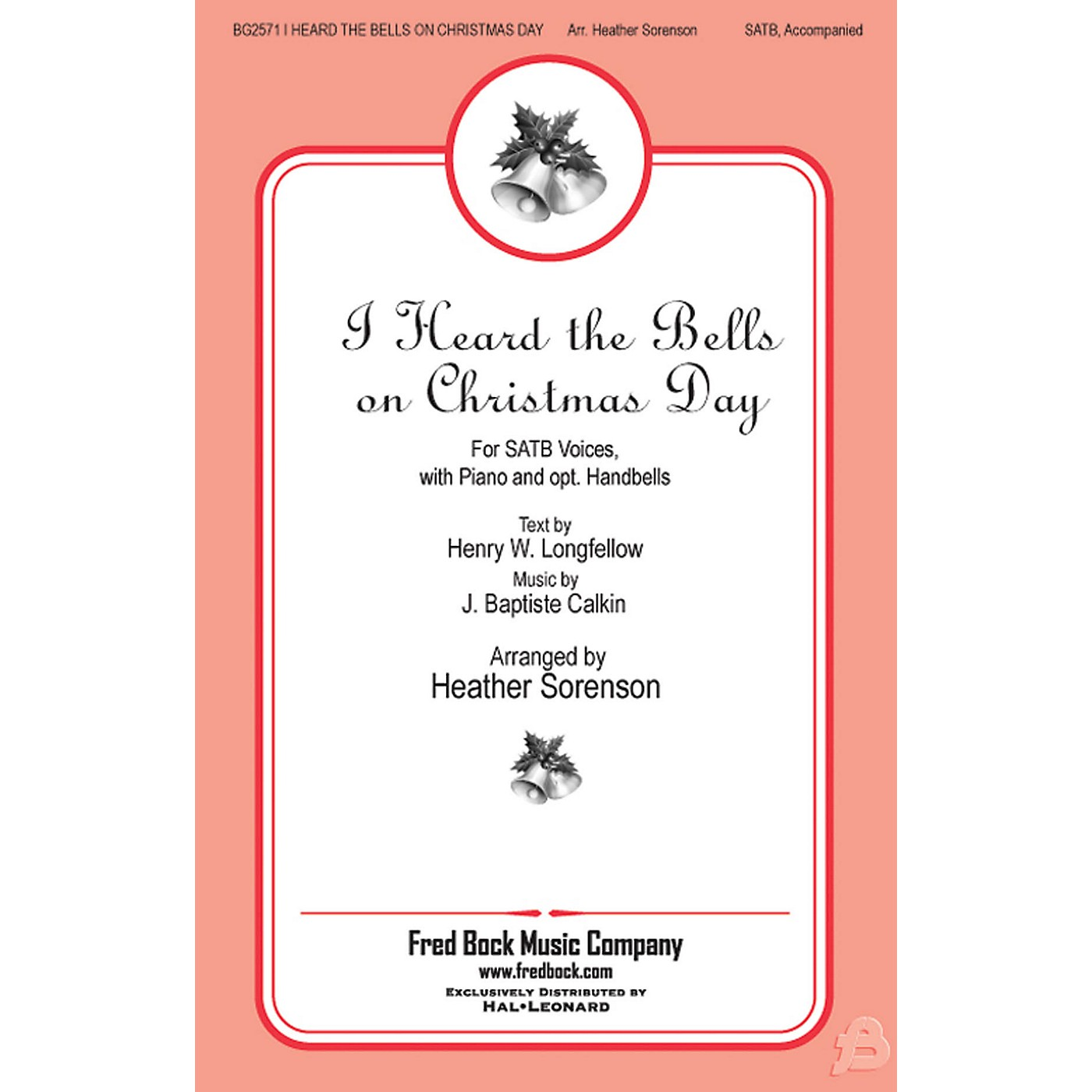 Fred Bock Music I Heard the Bells On Christmas Day REHEARSAL CD Arranged by Heather Sorenson thumbnail