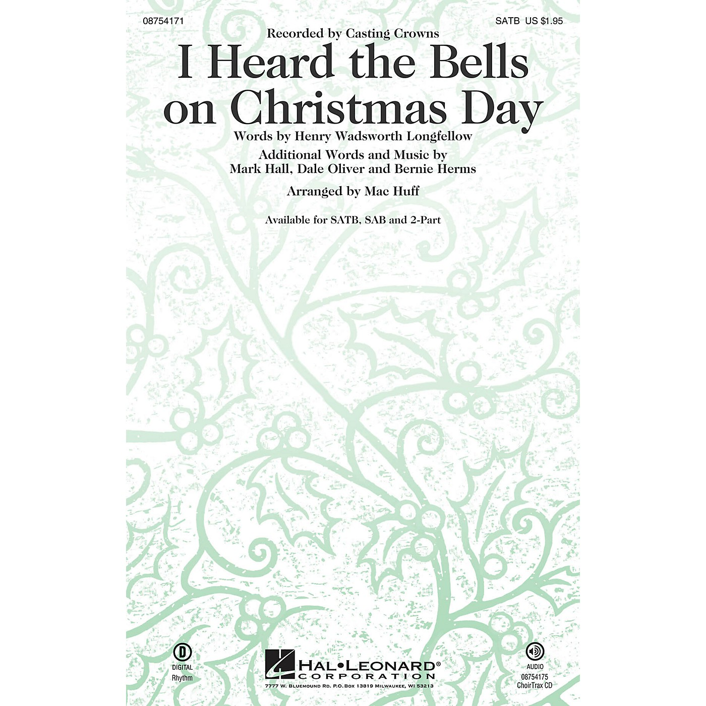 Hal Leonard I Heard the Bells on Christmas Day SSA by Casting Crowns Arranged by Mac Huff thumbnail