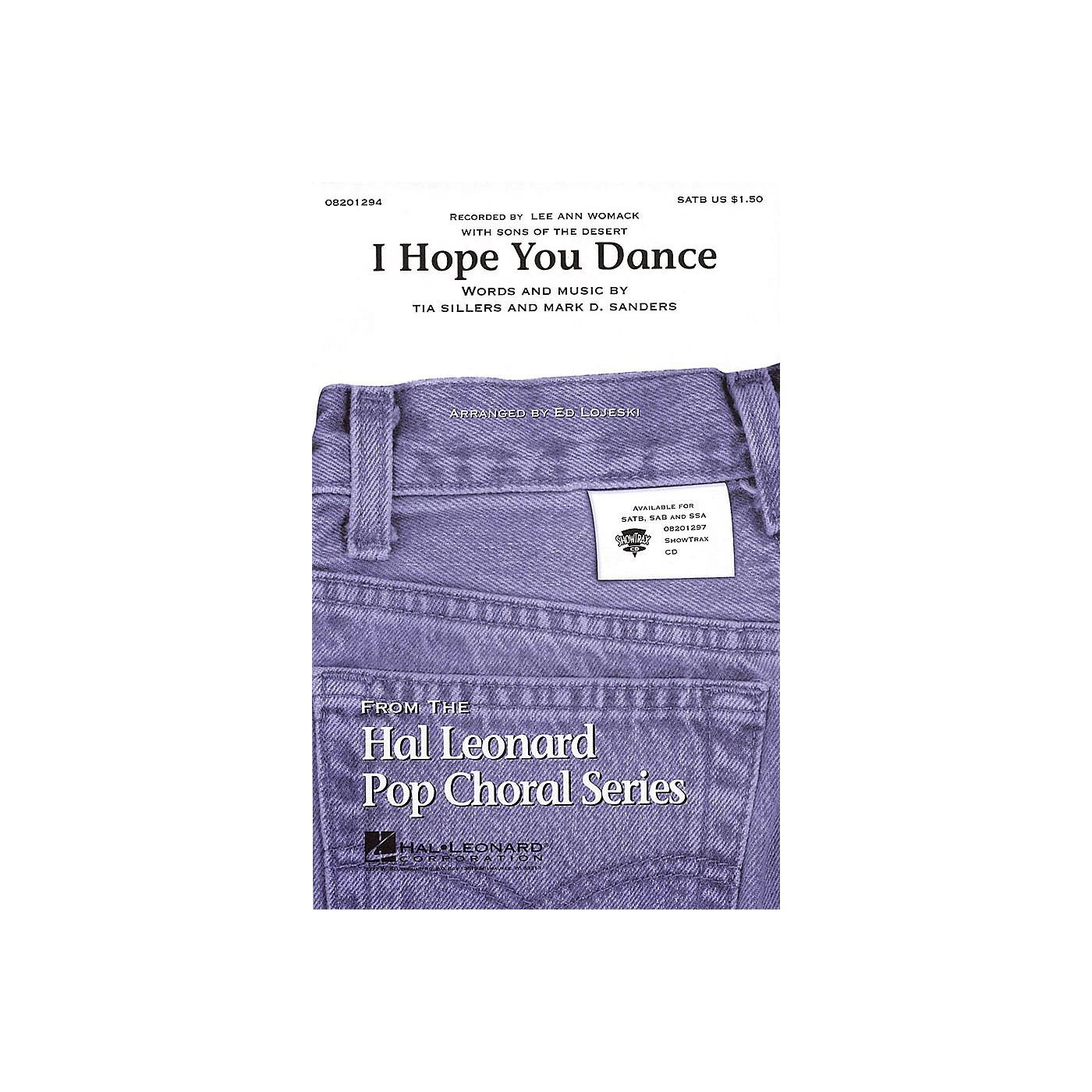 Hal Leonard I Hope You Dance SAB by Lee Ann Womack Arranged by Ed Lojeski thumbnail