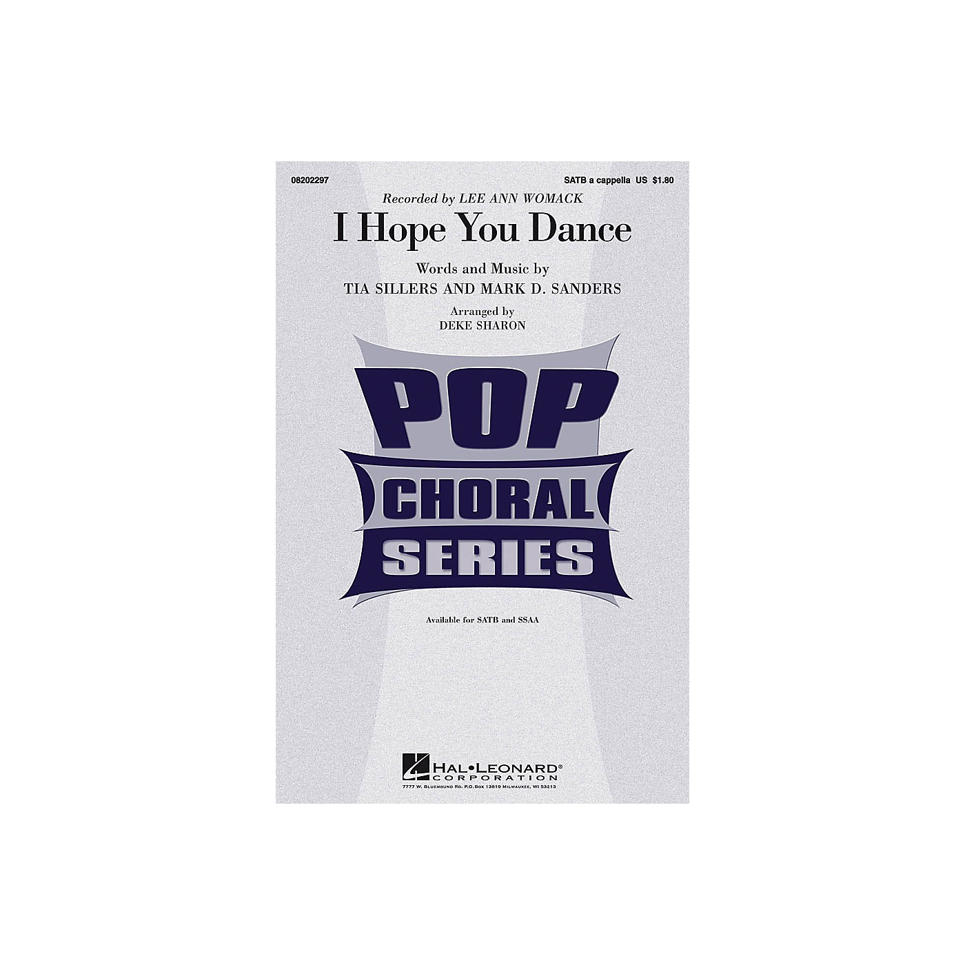 Hal Leonard I Hope You Dance SSAA A CAPPELLA by Lee Ann Womack Arranged by Deke Sharon thumbnail