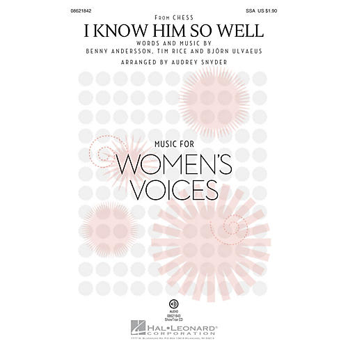 Hal Leonard I Know Him So Well (from Chess) ShowTrax CD Arranged by Audrey Snyder thumbnail