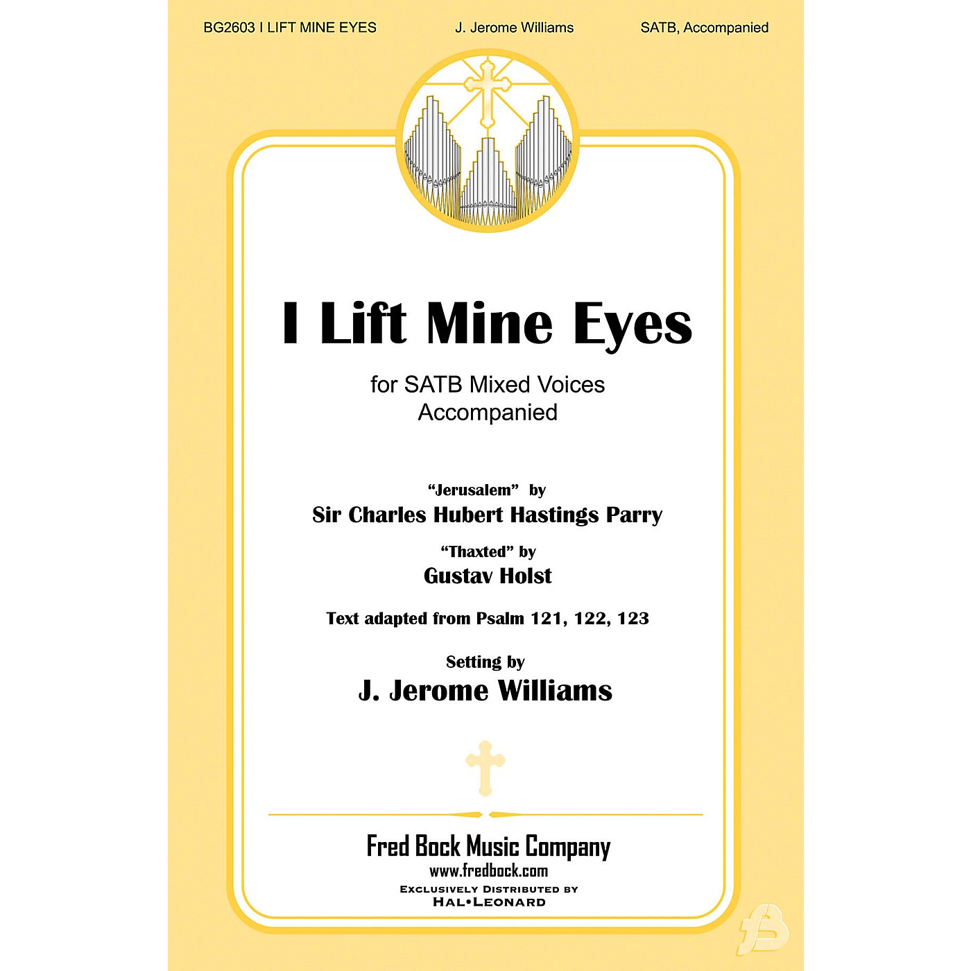 Fred Bock Music I Lift Mine Eyes SATB arranged by J. Jerome Williams thumbnail