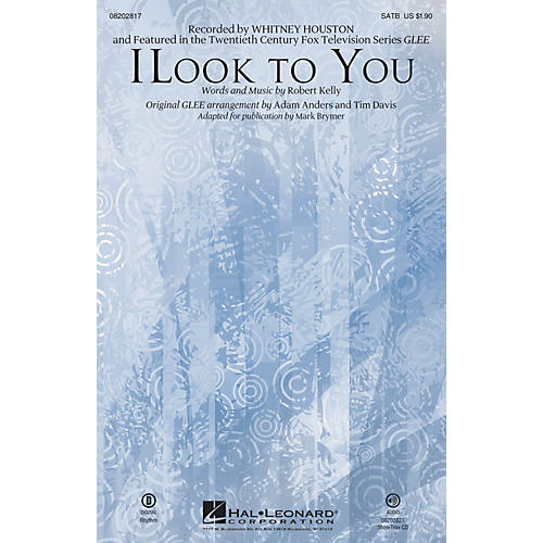 Hal Leonard I Look to You (featured in Glee) SAB by Whitney Houston Arranged by Mark Brymer thumbnail