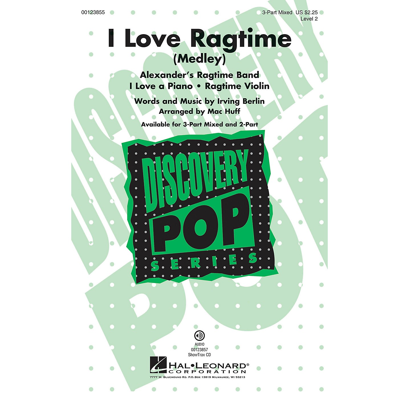 Hal Leonard I Love Ragtime (Medley Discovery Level 2) 3-Part Mixed arranged by Mac Huff thumbnail