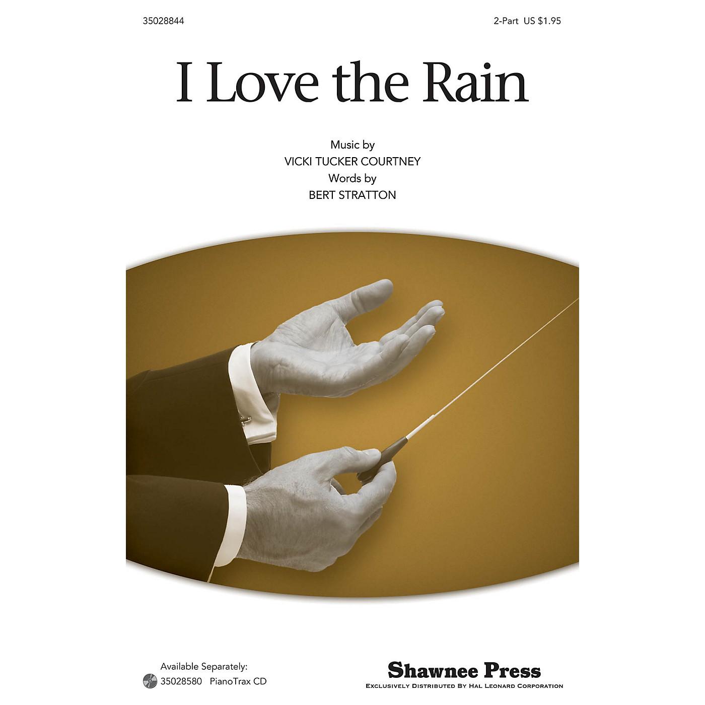 Shawnee Press I Love The Rain 2-Part arranged by Vicki Tucker Courtney thumbnail