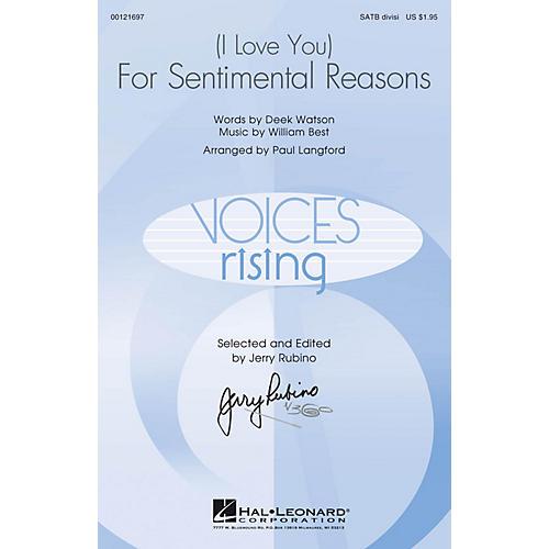 Hal Leonard (I Love You) For Sentimental Reasons SATB Divisi arranged by Paul Langford thumbnail