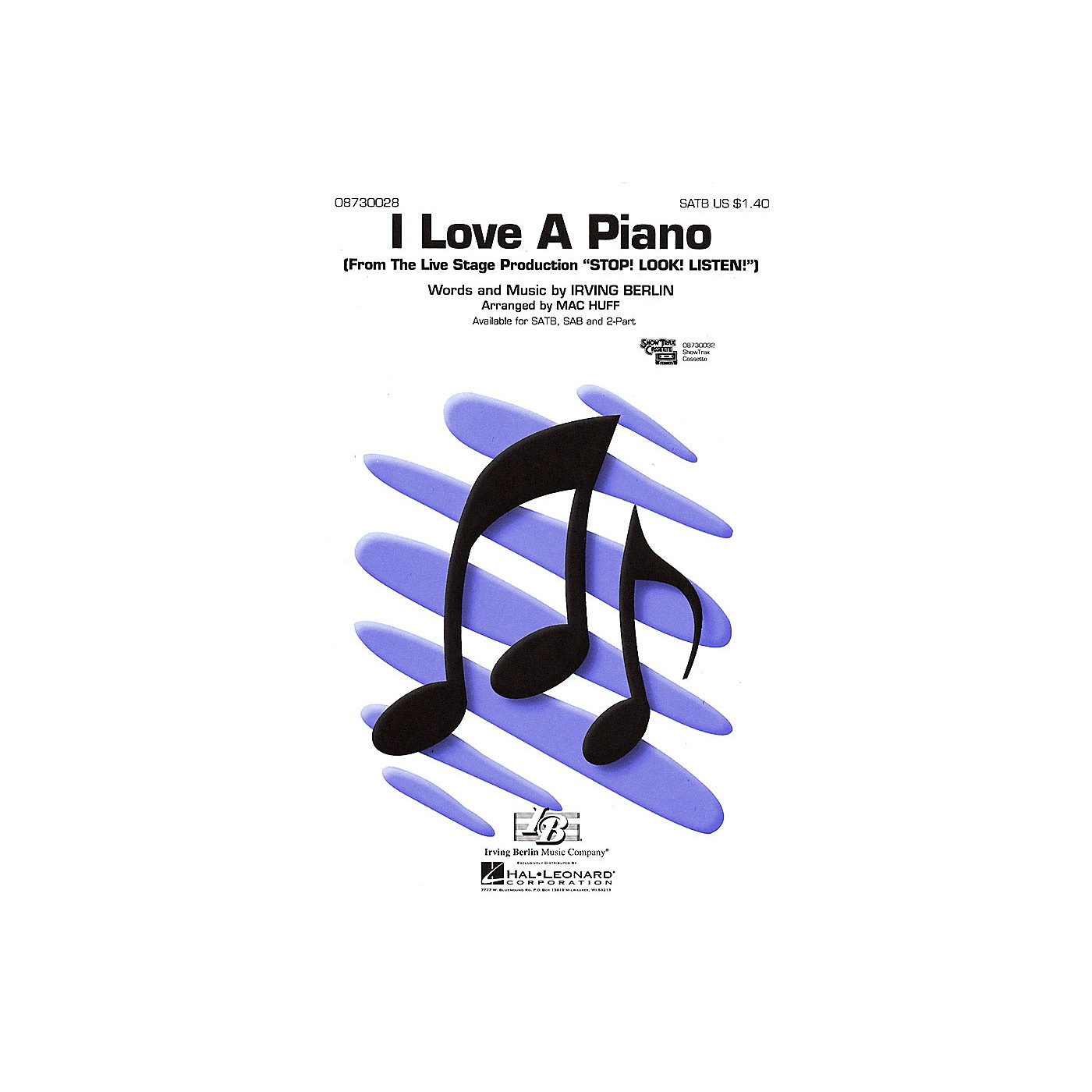 Hal Leonard I Love a Piano (from Stop! Look! Listen!) 2-Part Arranged by Mac Huff thumbnail
